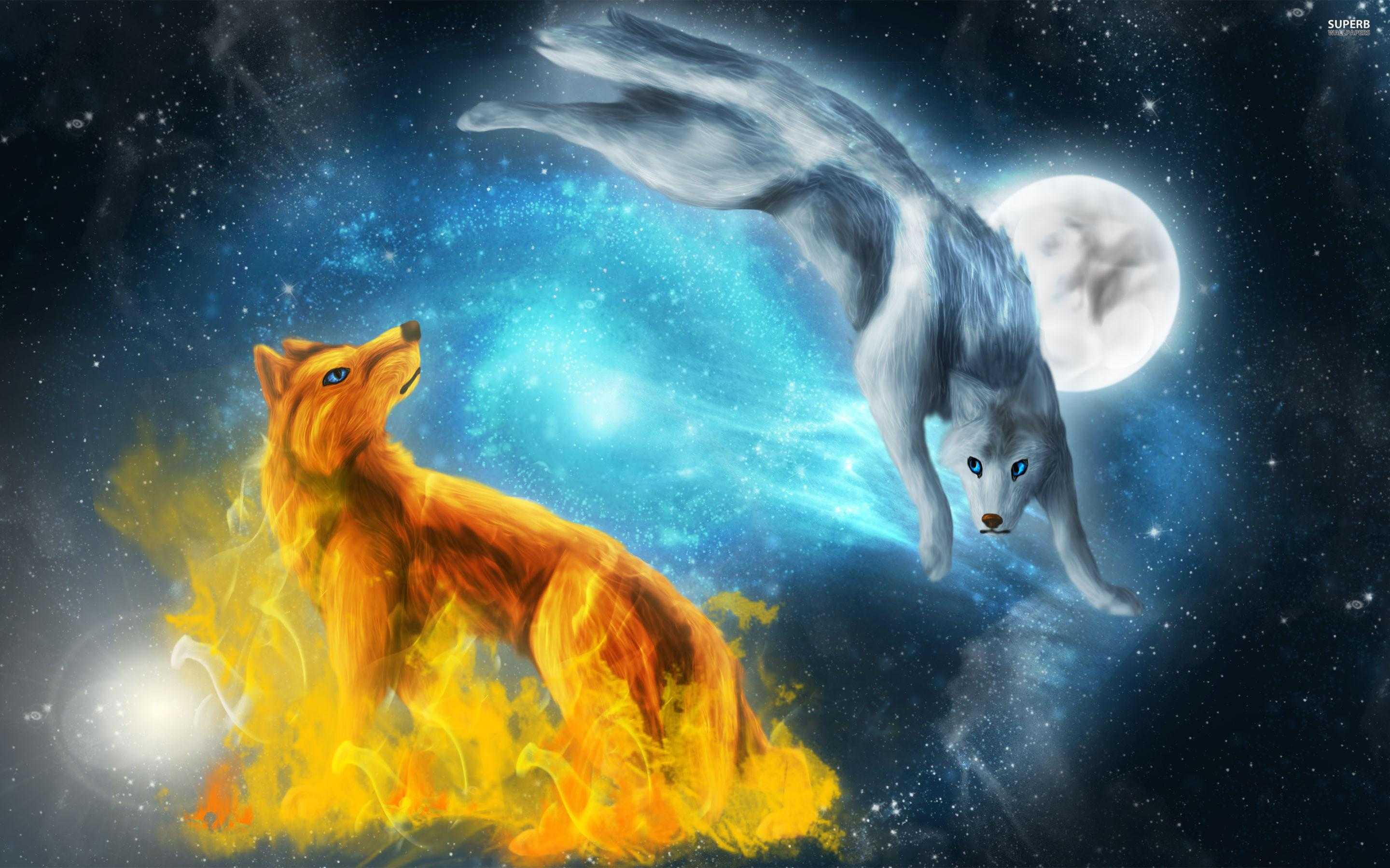Download Wolf And Moon Wallpapers Hd Backgrounds Download Itl Cat