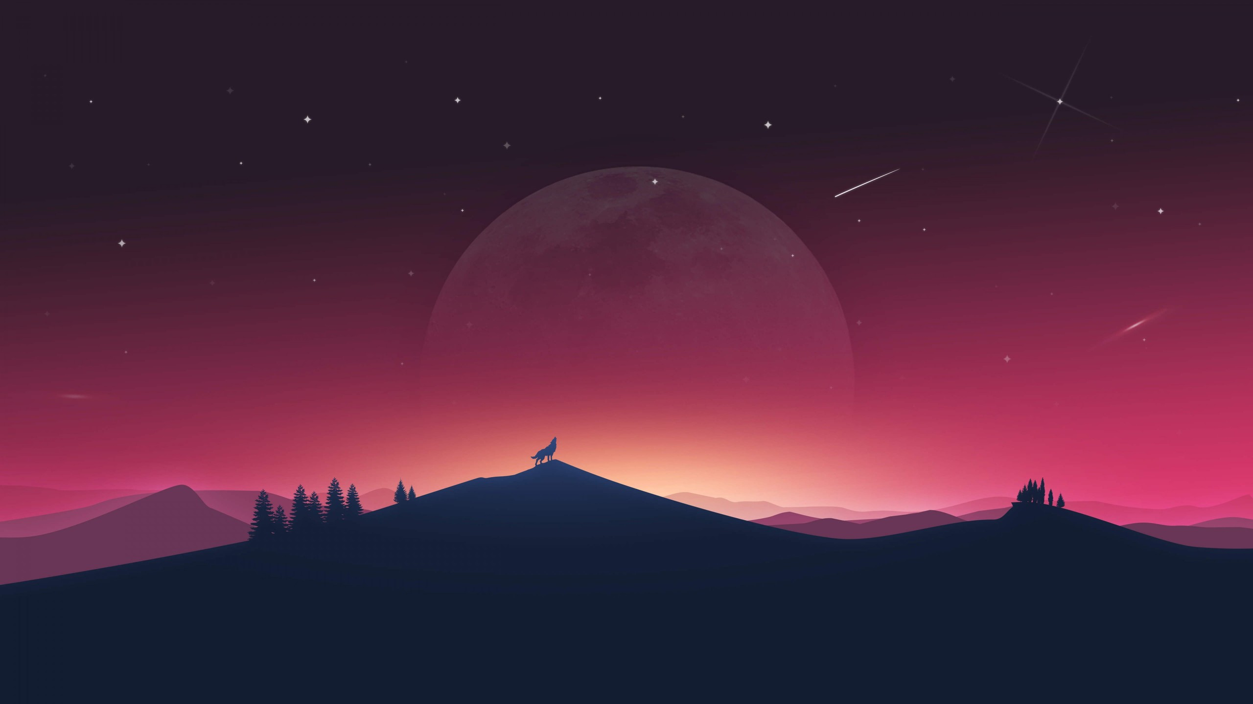 Download Wolf And Moon Wallpapers Hd Backgrounds Download