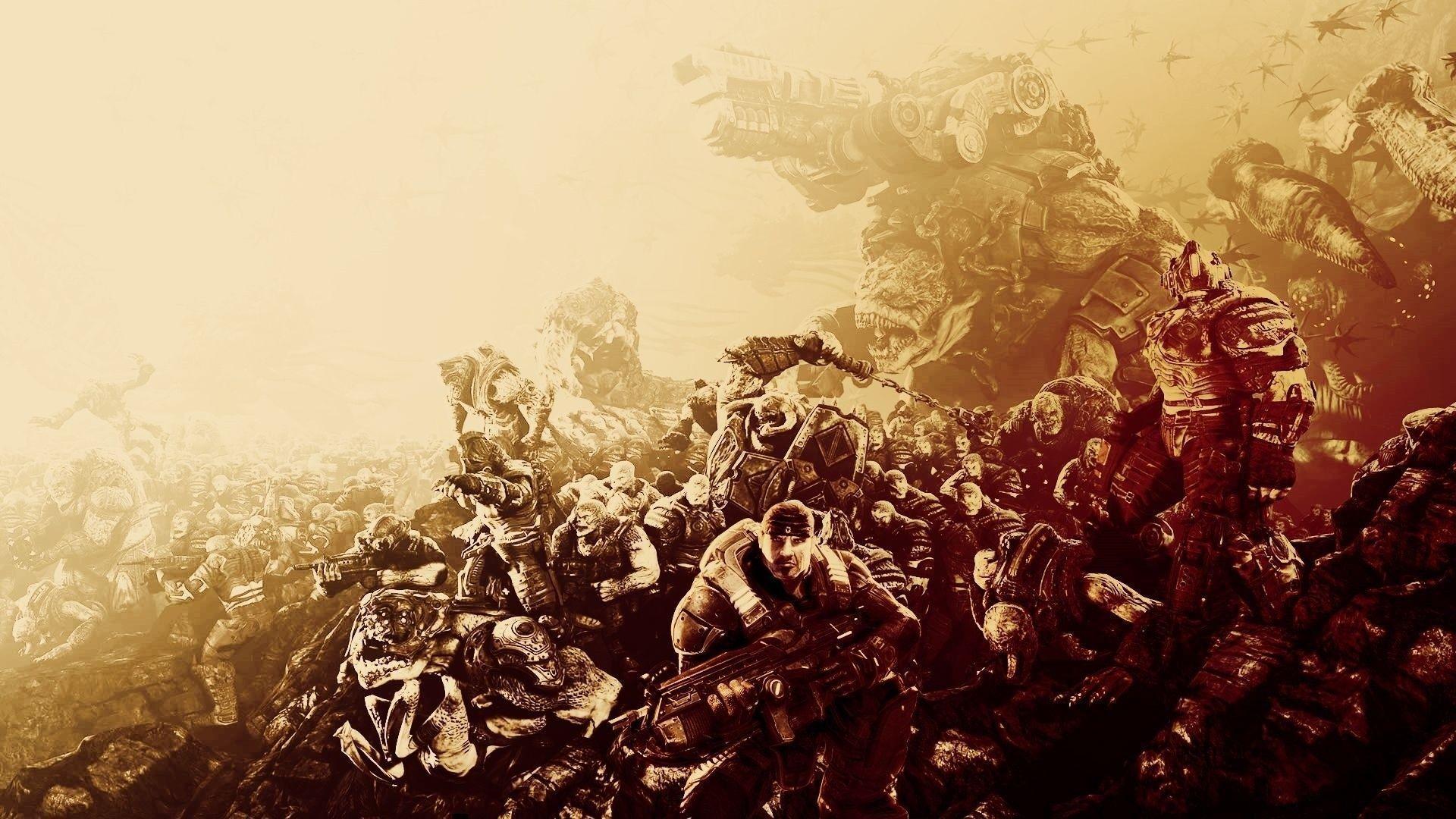 Download Gears Of War Logo Wallpaper Hd Backgrounds Download
