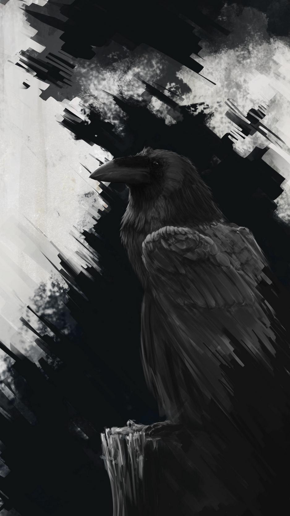 Dark Raven Wallpaper Iphone