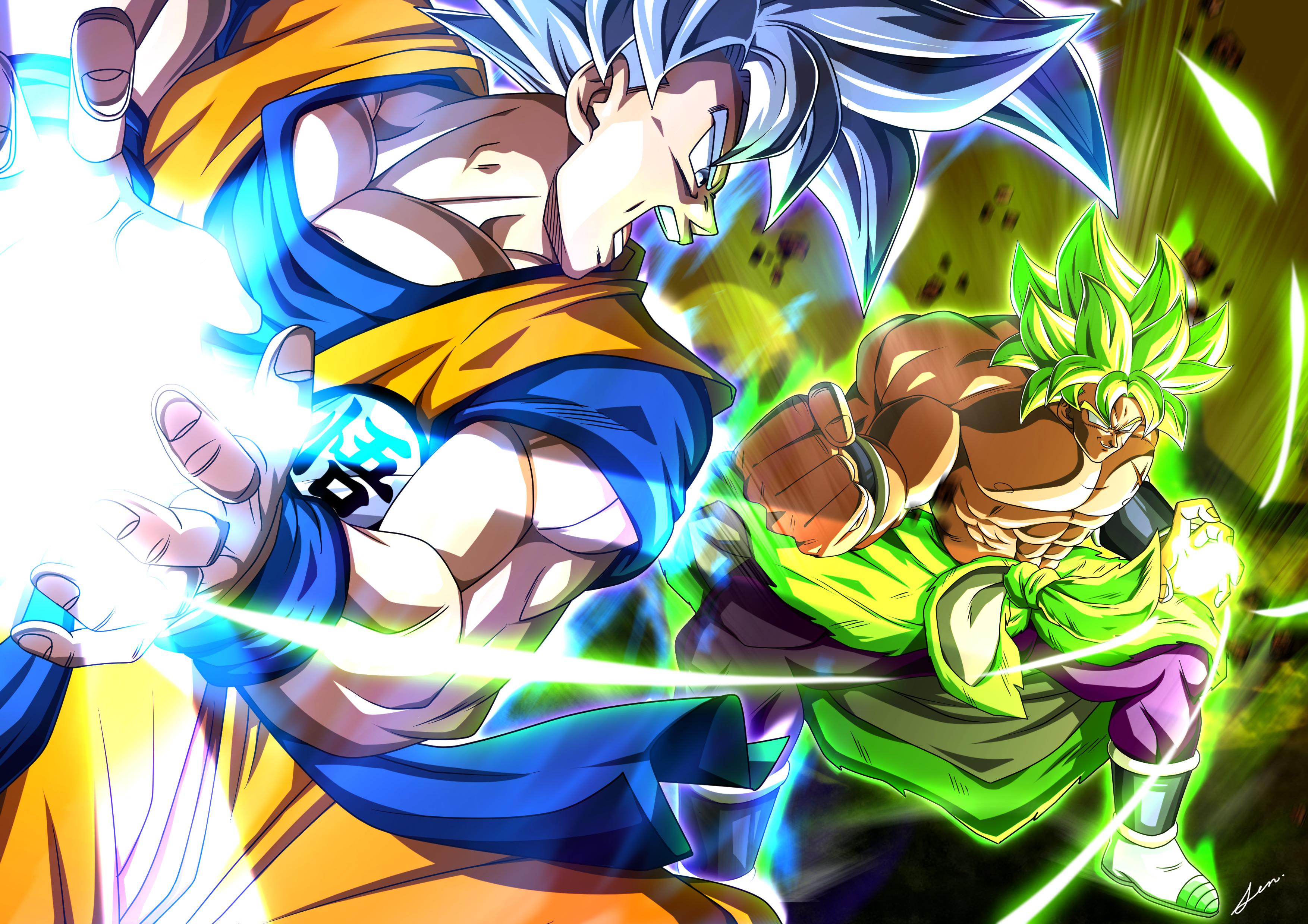 Goku Vs Broly Wallpaper Hd