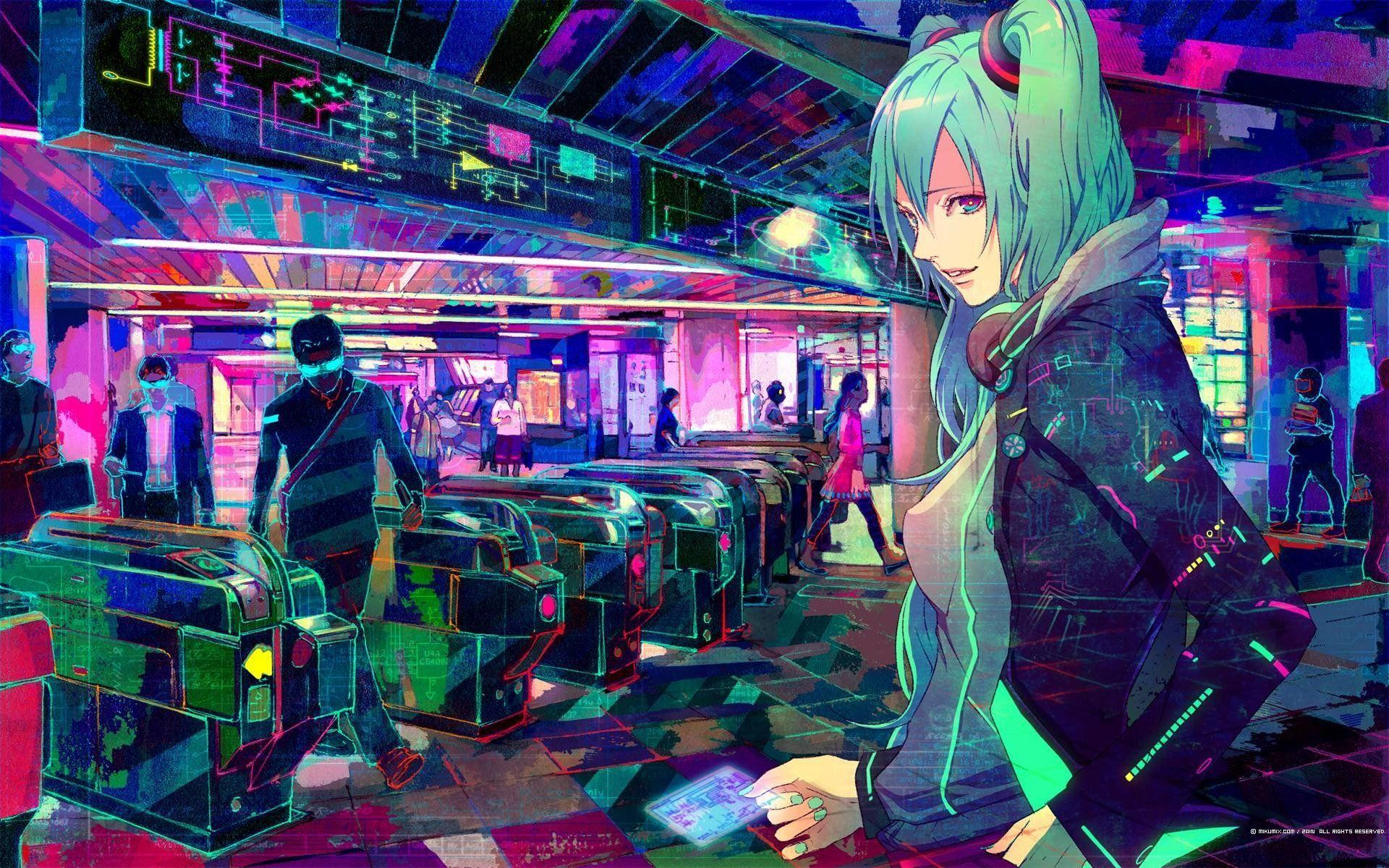 Download Cyber Anime Wallpaper Hd Backgrounds Download