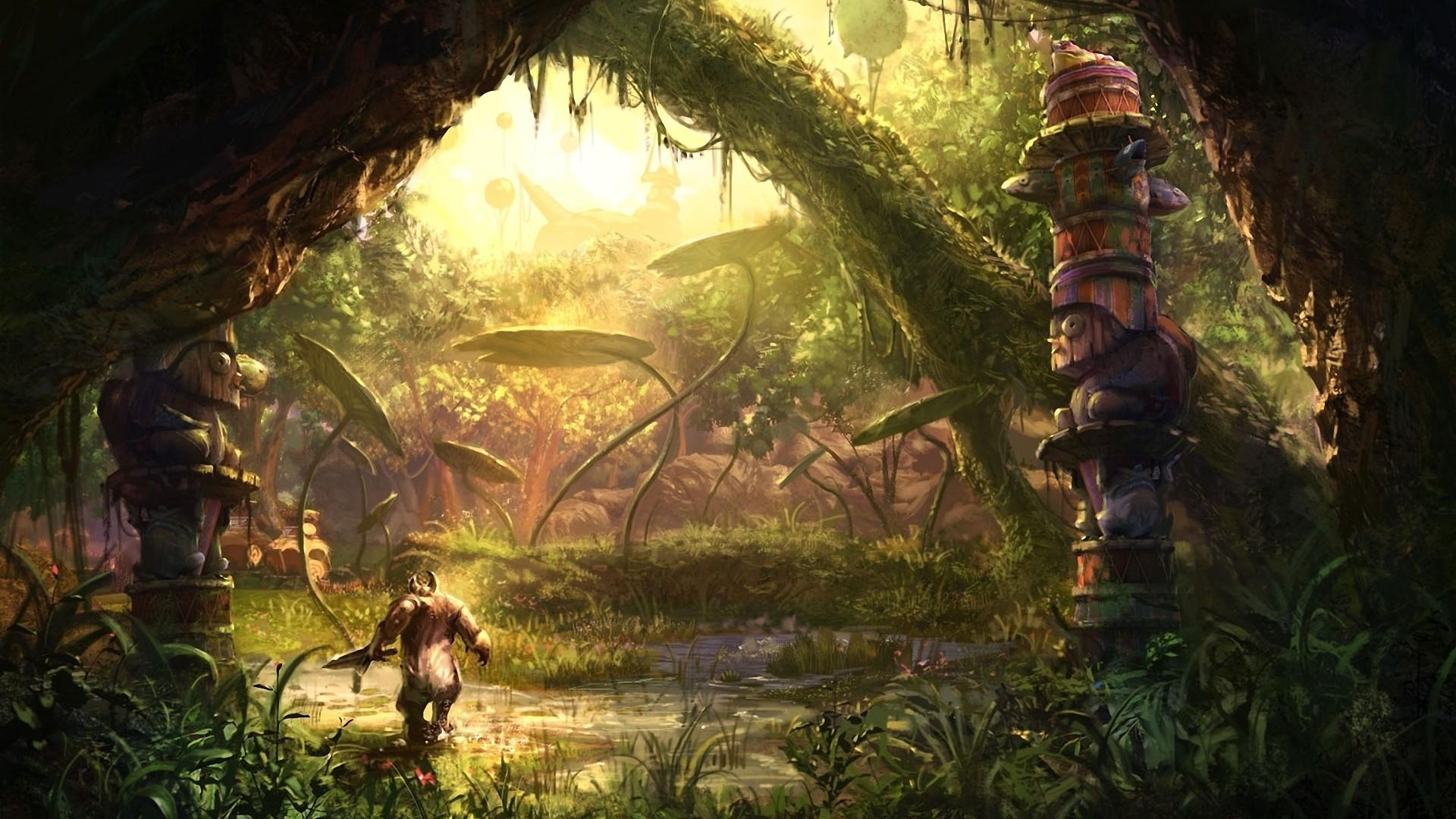 Download Fantasy Forest Wallpaper Hd Backgrounds Download