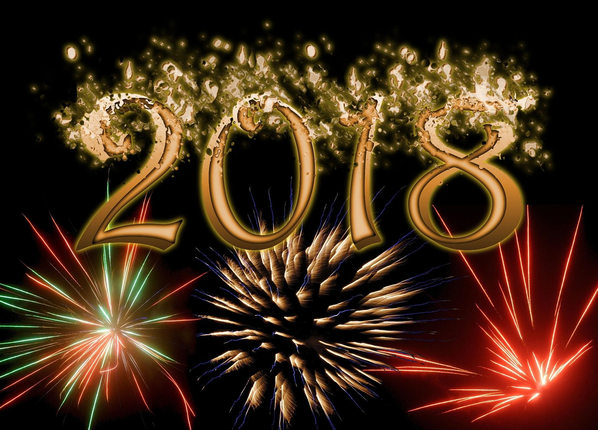 Download Happy New Year 2018 Wallpapers, HD Backgrounds
