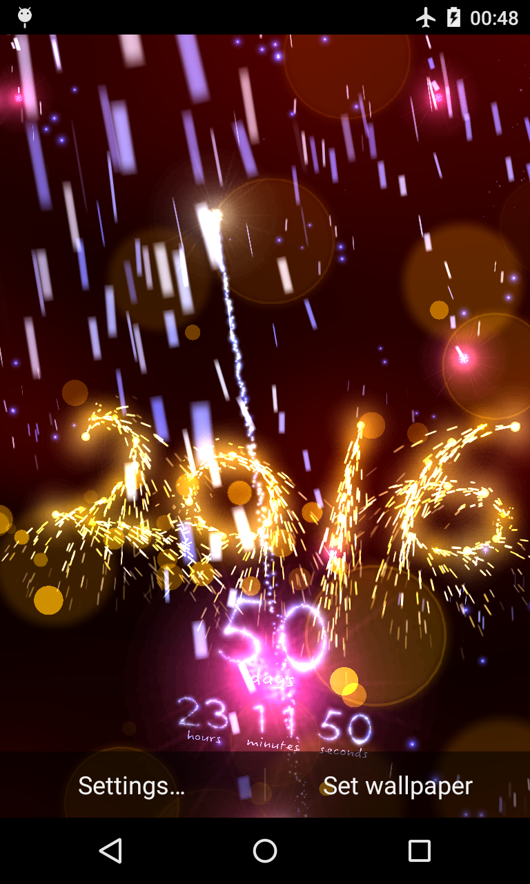 New Year Countdown Live Wallpaper
