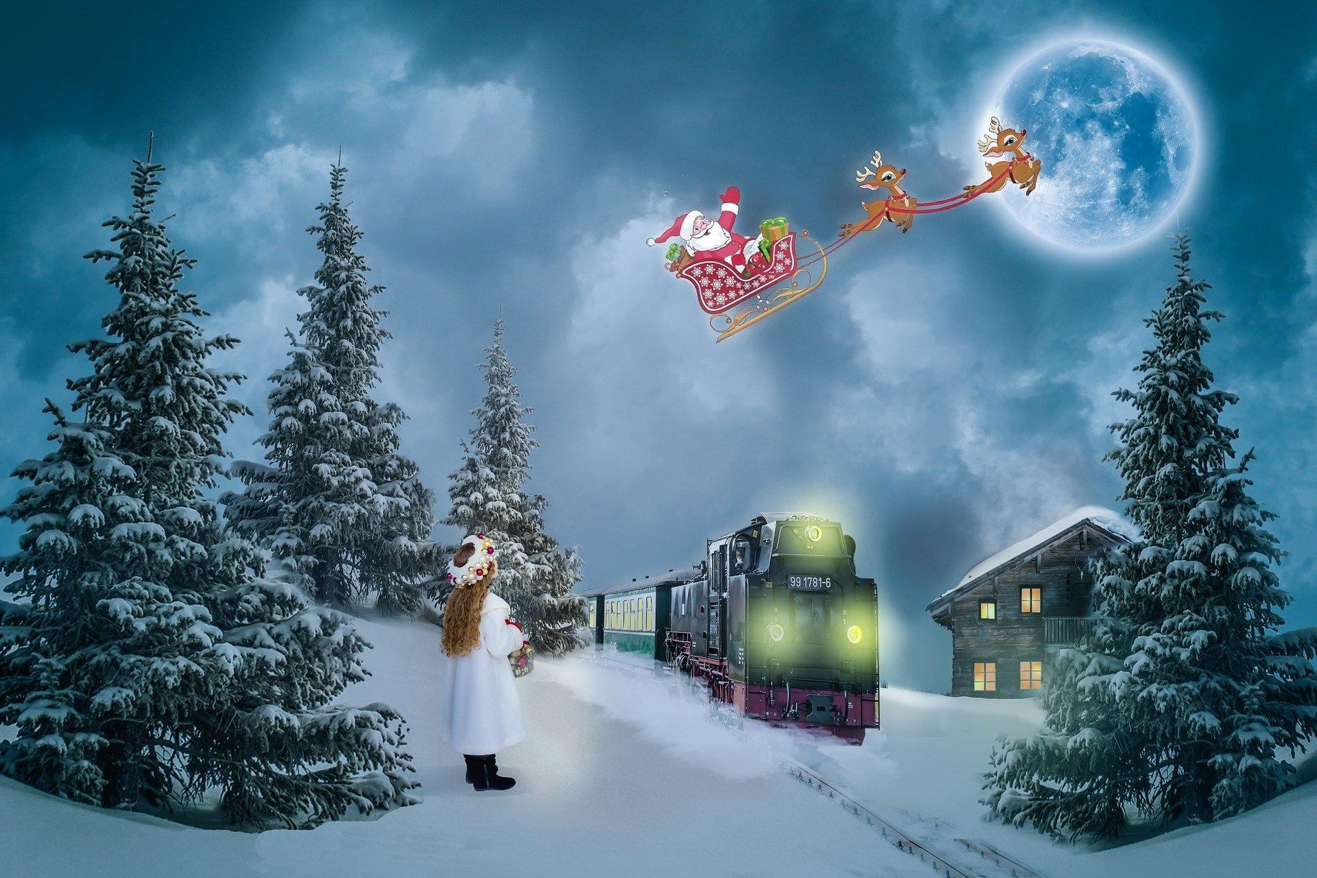 Download Christmas Train Wallpaper Hd Backgrounds Download
