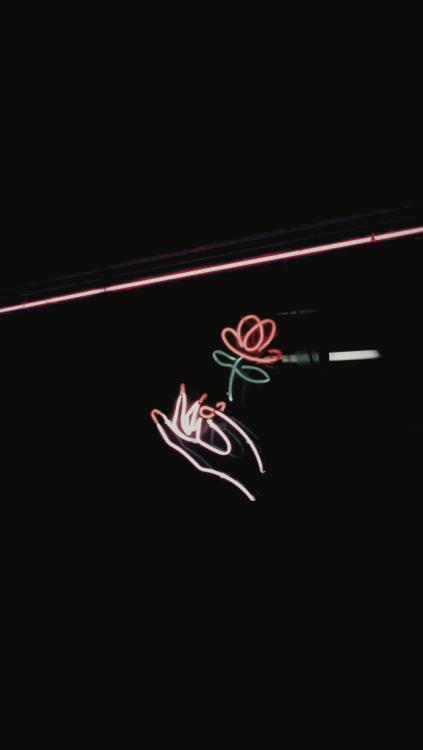 Wallpaper Tumblr Neon Lights