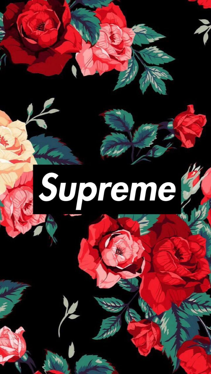 Pinterest - Supreme Wallpaper Flower , HD Wallpaper & Backgrounds
