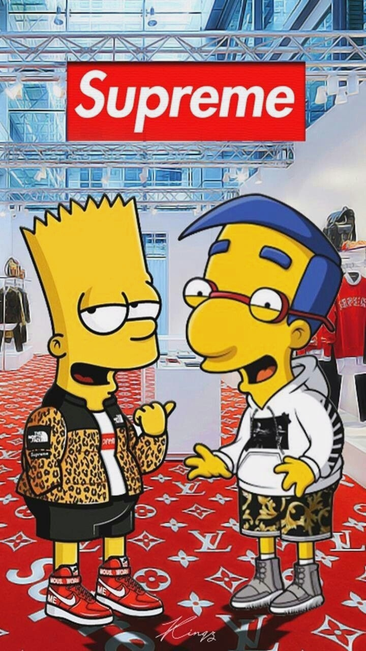Suprime Supreme Wallpaper Hd Simpson Wallpaper Iphone