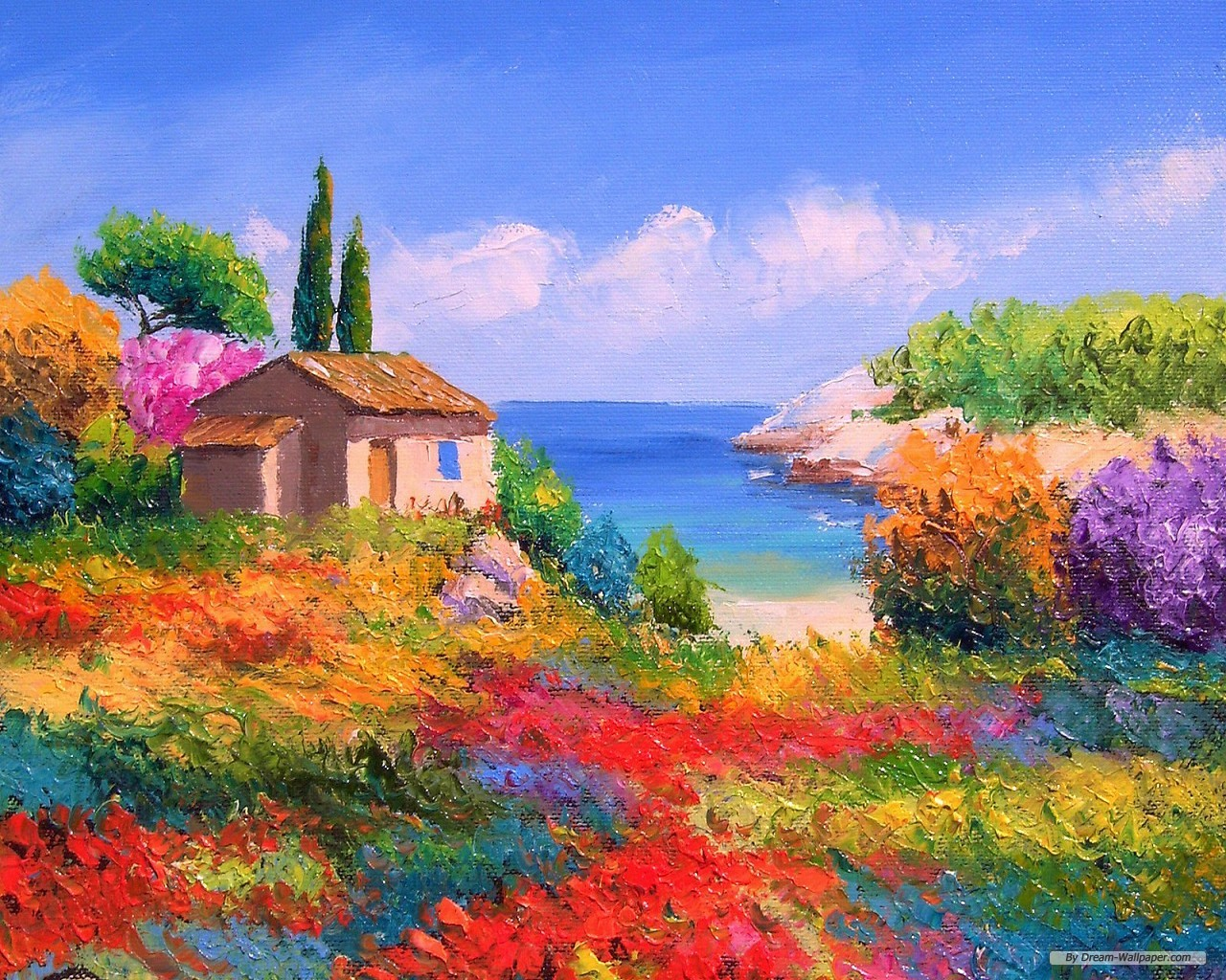 Freewallpaper Free Wallpaper Hd Collection Best Wallpapers - Landscape Painting By Famous Artists , HD Wallpaper & Backgrounds