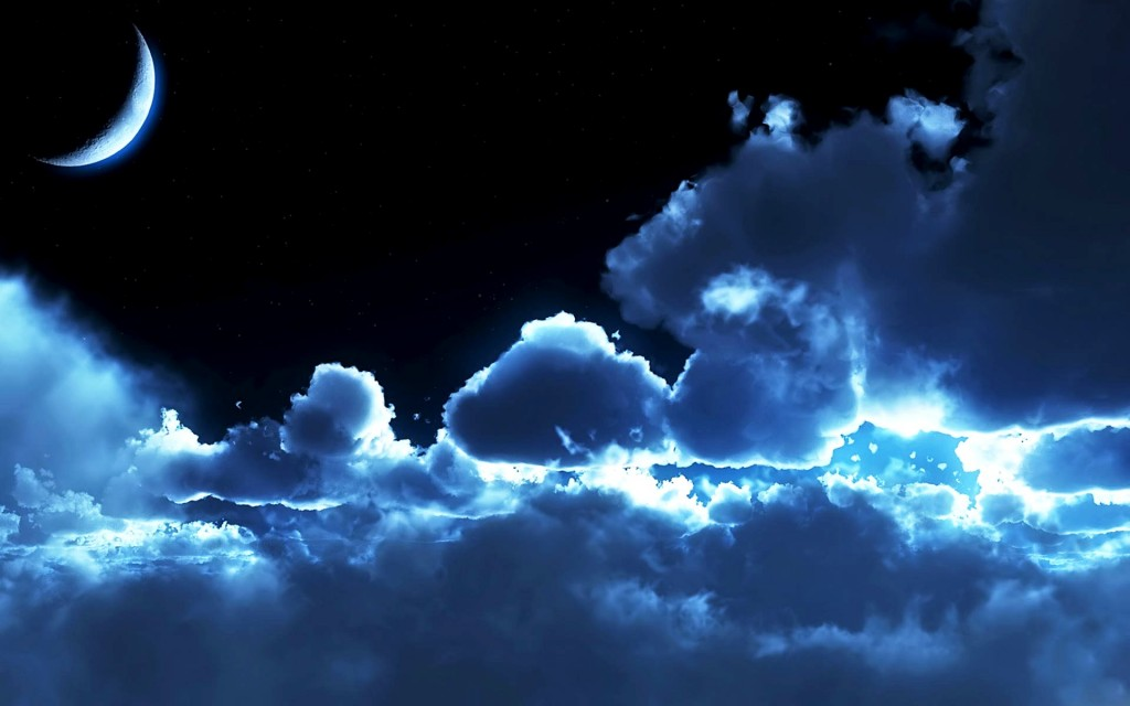 Night Sky Free Wallpaper - Clouds In The Night Sky , HD Wallpaper & Backgrounds