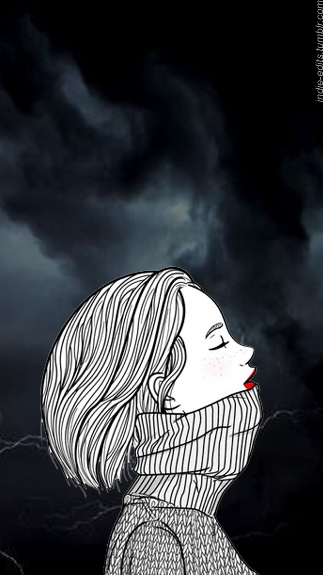 Sad Girl Wallpaper Iphone , HD Wallpaper & Backgrounds
