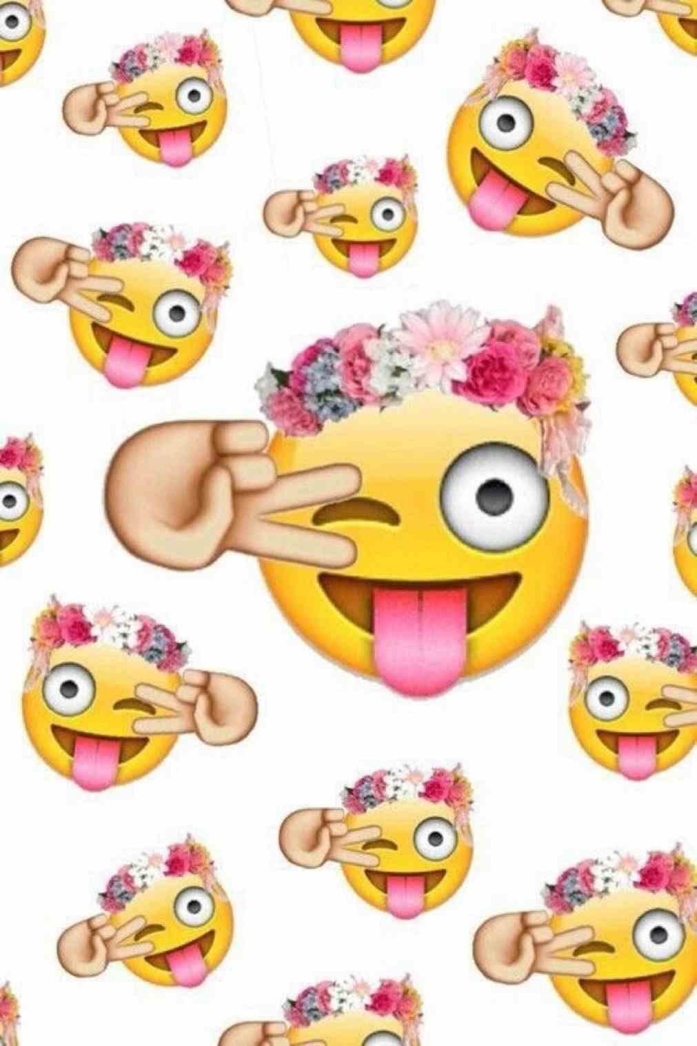 Cute Emoji Wallpapers - Emojis Para Fondo De Whatsapp , HD Wallpaper & Backgrounds