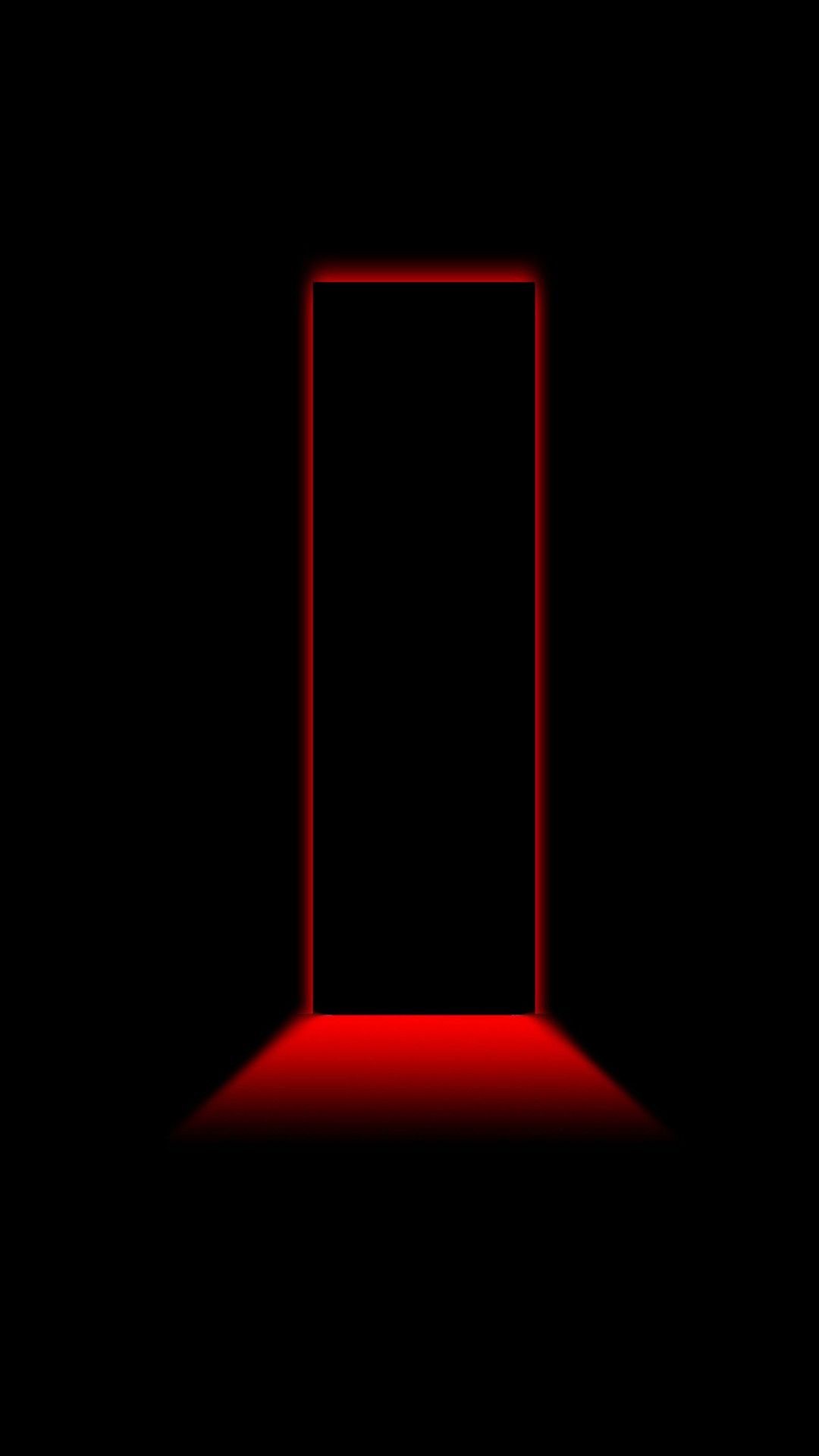 3d Black And Red Iphone Wallpaper Black And Red Minimalist