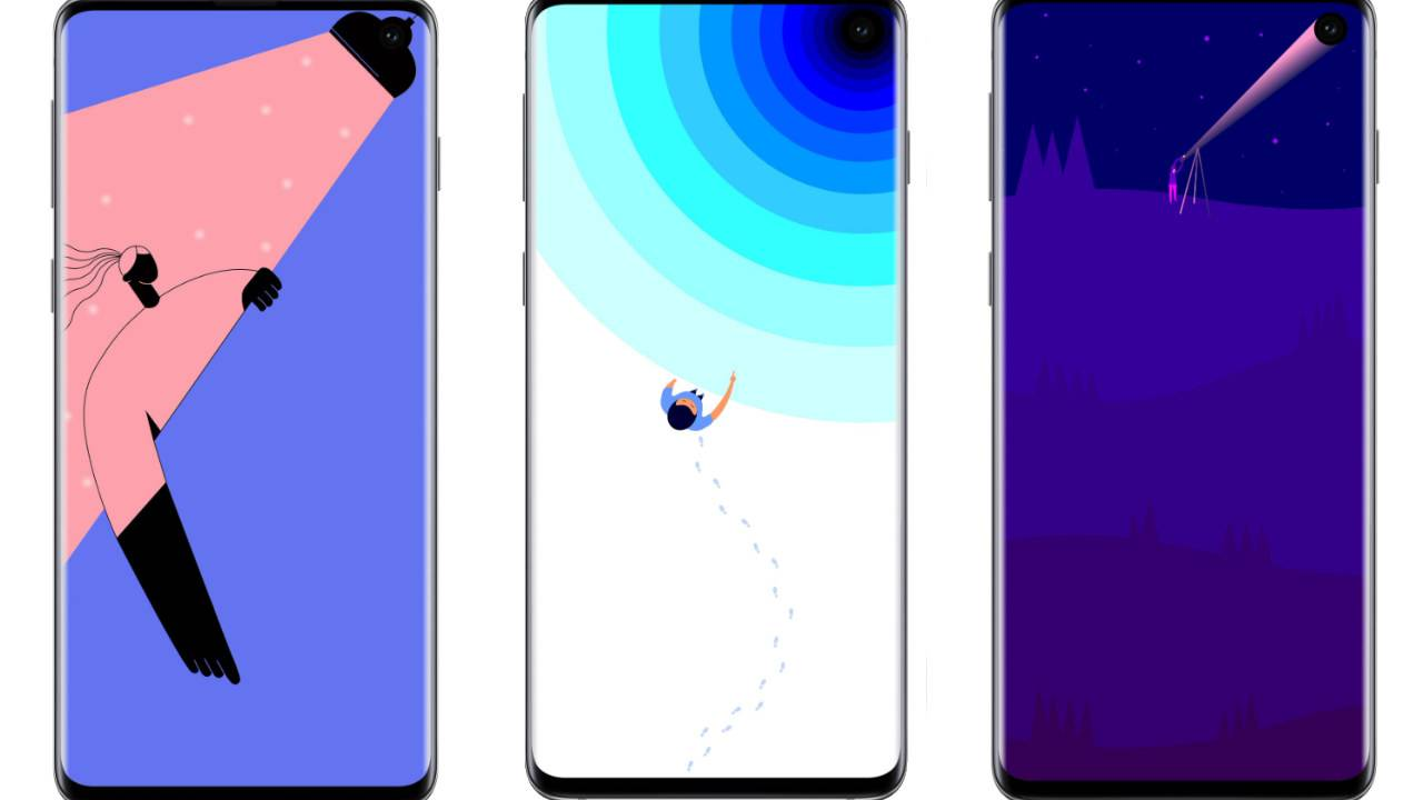 These Clever Galaxy S10 Wallpapers Embrace The Hole Punch Samsung S10 5539 Hd Wallpaper Backgrounds Download