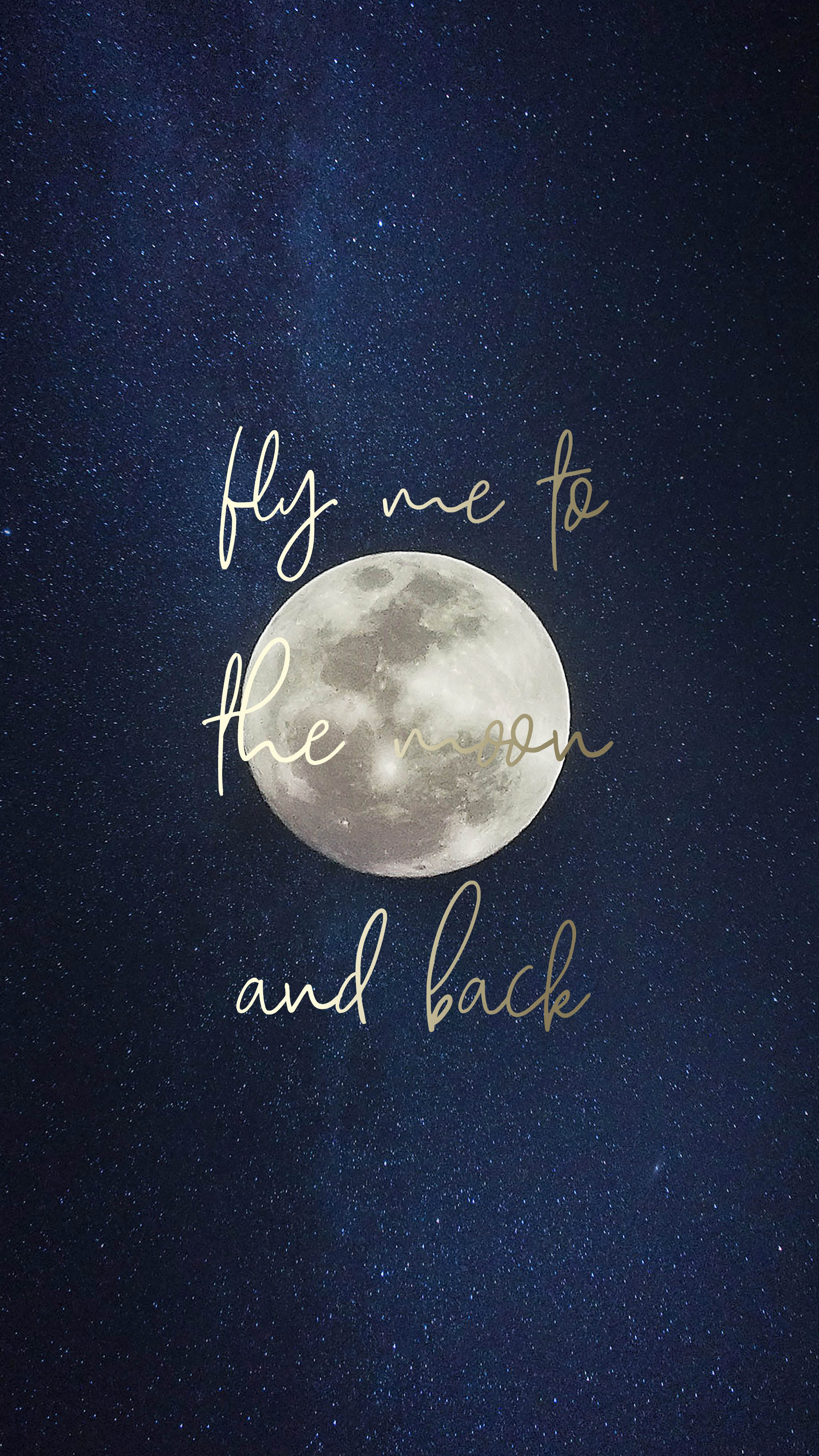 Your Mobile Wallpaper - Fly Me To The Moon And Back , HD Wallpaper & Backgrounds