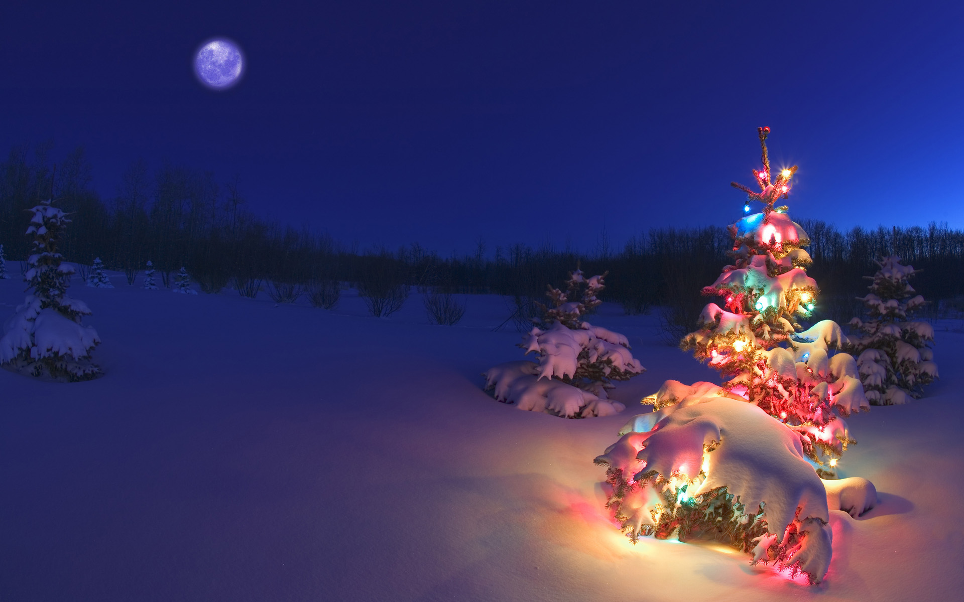 Christmas Wallpaper - Christmas Night , HD Wallpaper & Backgrounds