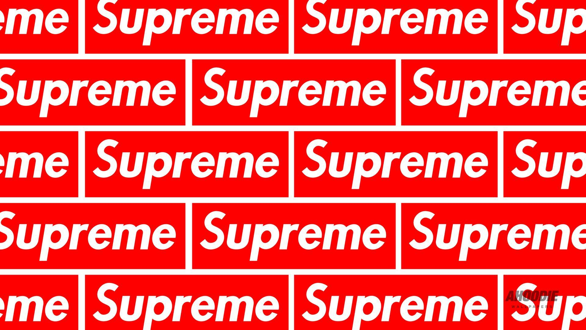 Supreme Wallpaper Wallpapersafari - Supreme Logo Pattern , HD Wallpaper & Backgrounds