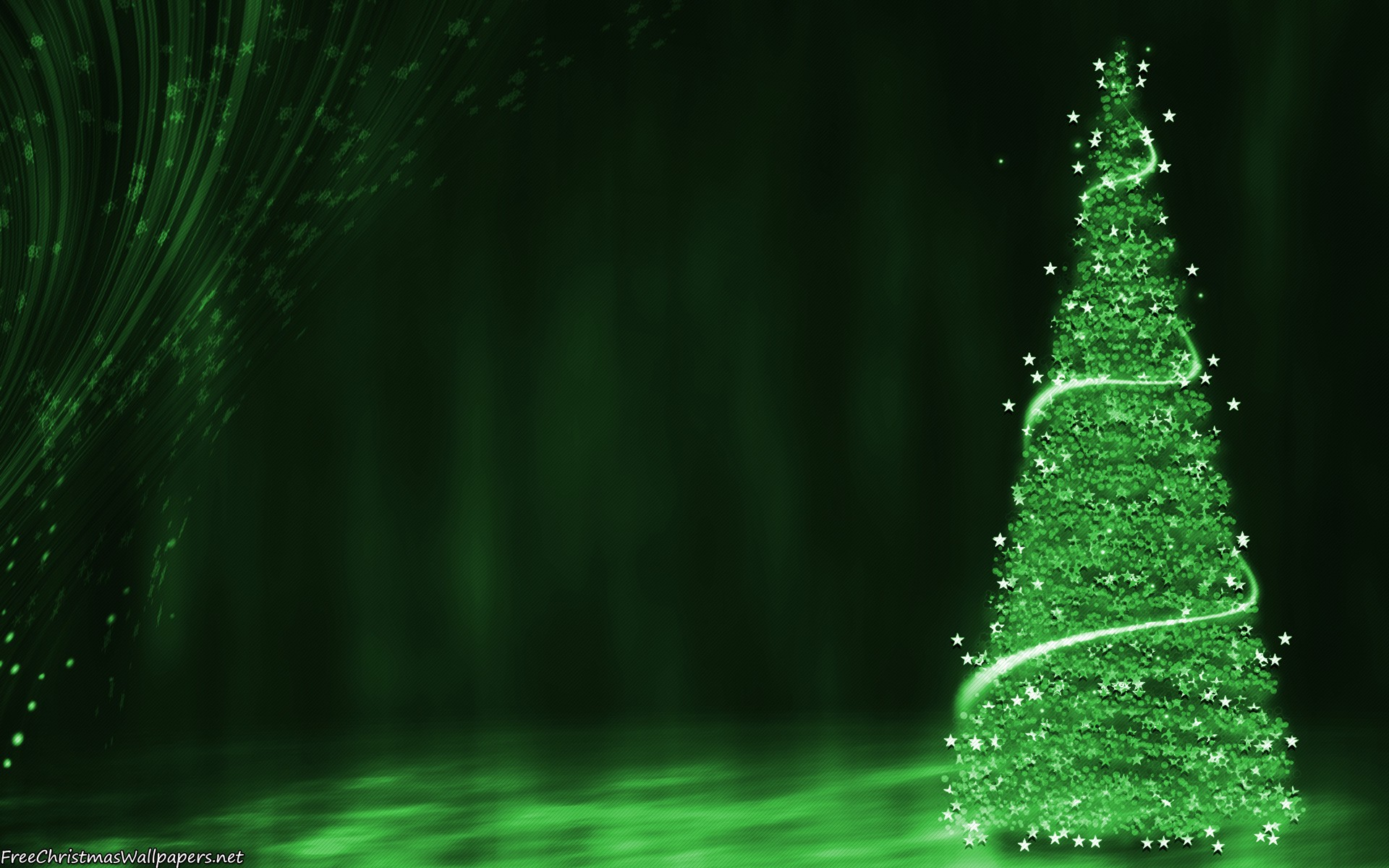 Download Green Christmas Tree Background Wallpaper - Green Christmas Background Hd , HD Wallpaper & Backgrounds