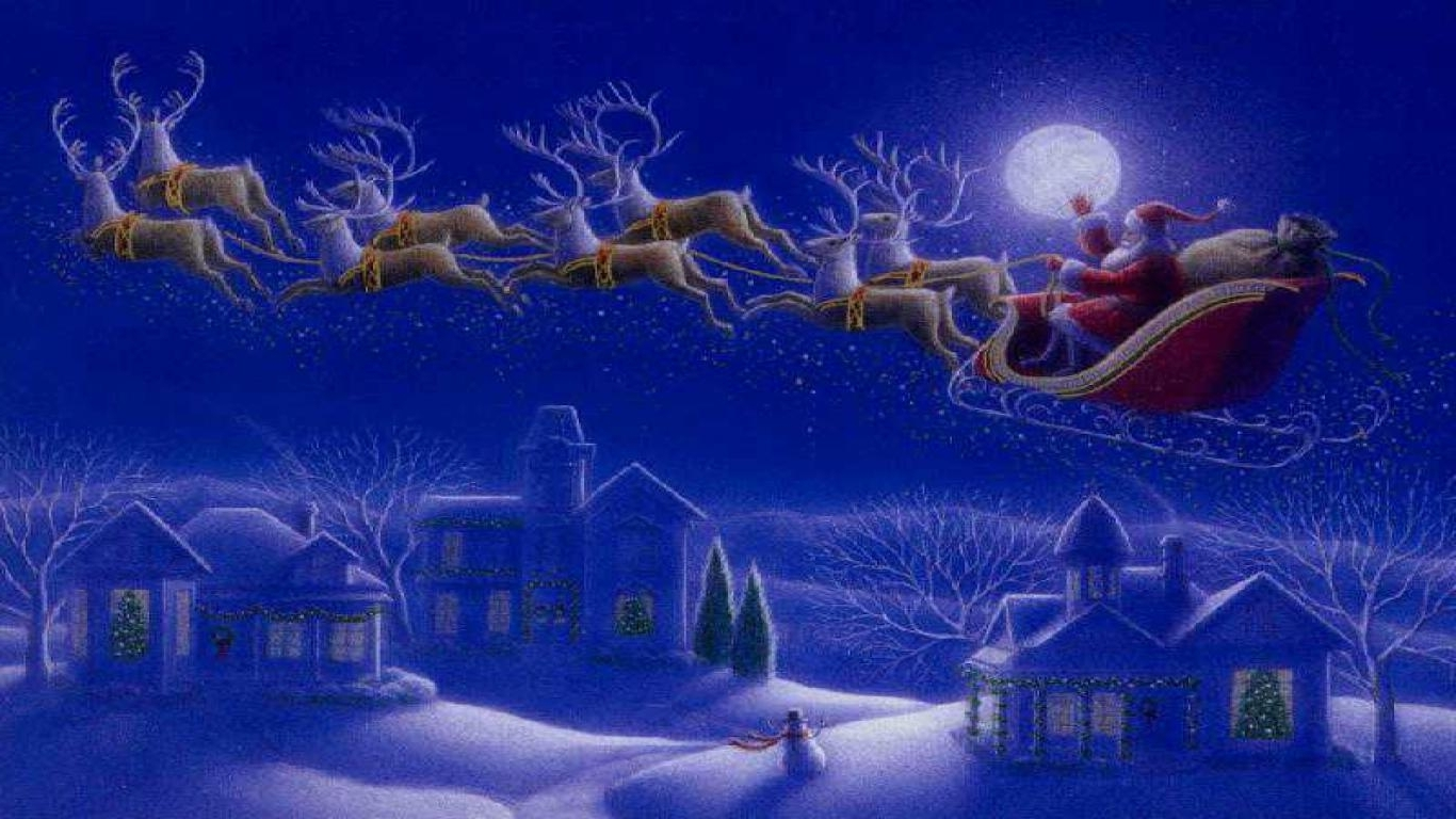 Free Christmas Wallpaper For Computer - Night Before Christmas Graphics , HD Wallpaper & Backgrounds