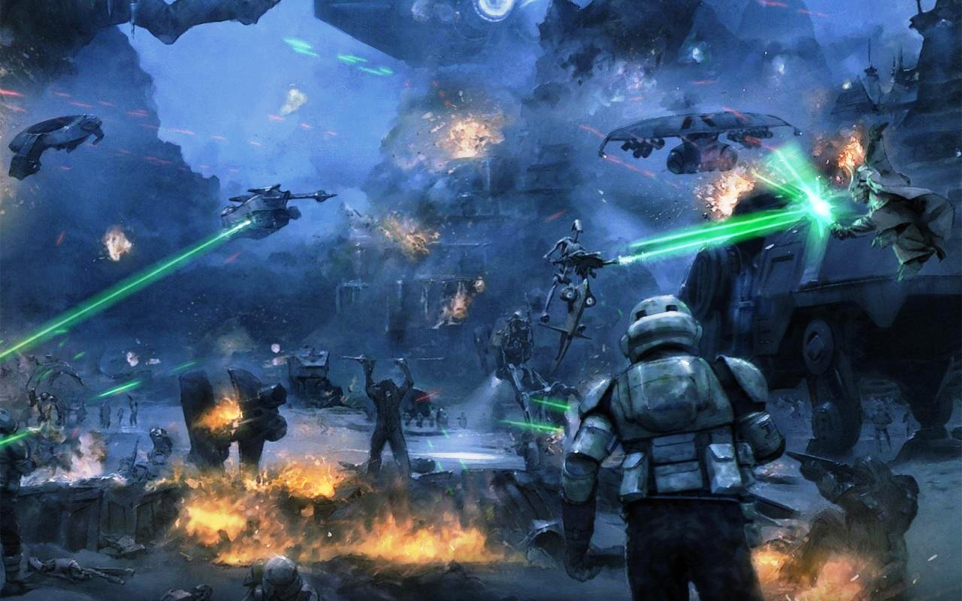 Star Wars Battle Of Kashyyyk 8613 Hd Wallpaper Backgrounds Download