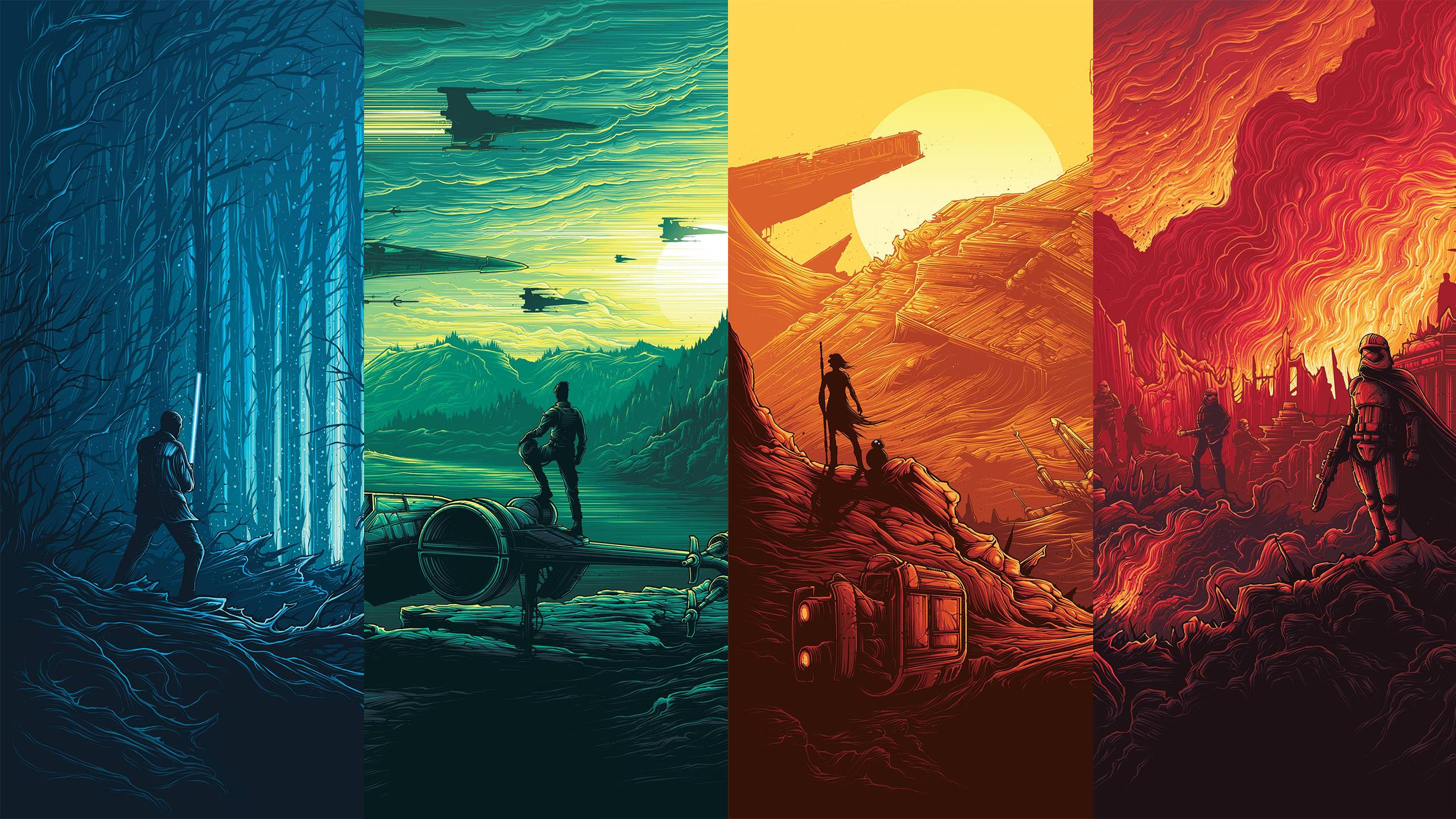 Starwars Star Wars The Force Awakens Painting 8774 Hd Wallpaper Backgrounds Download
