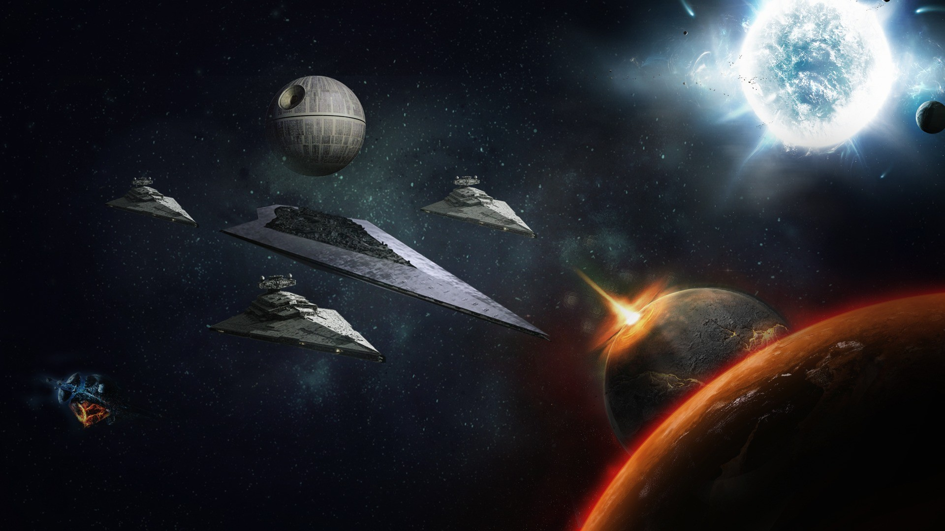 Star - Star Wars Planets Background , HD Wallpaper & Backgrounds