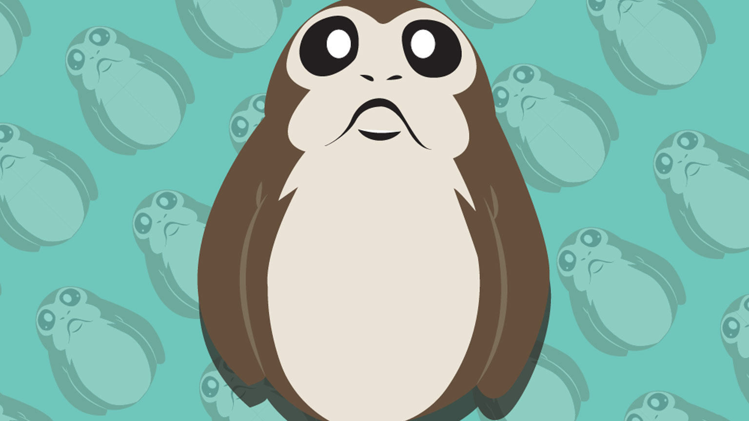 Bring Some Galactic Style To Your Mobile Device With - Iphone Porg Star Wars Background , HD Wallpaper & Backgrounds