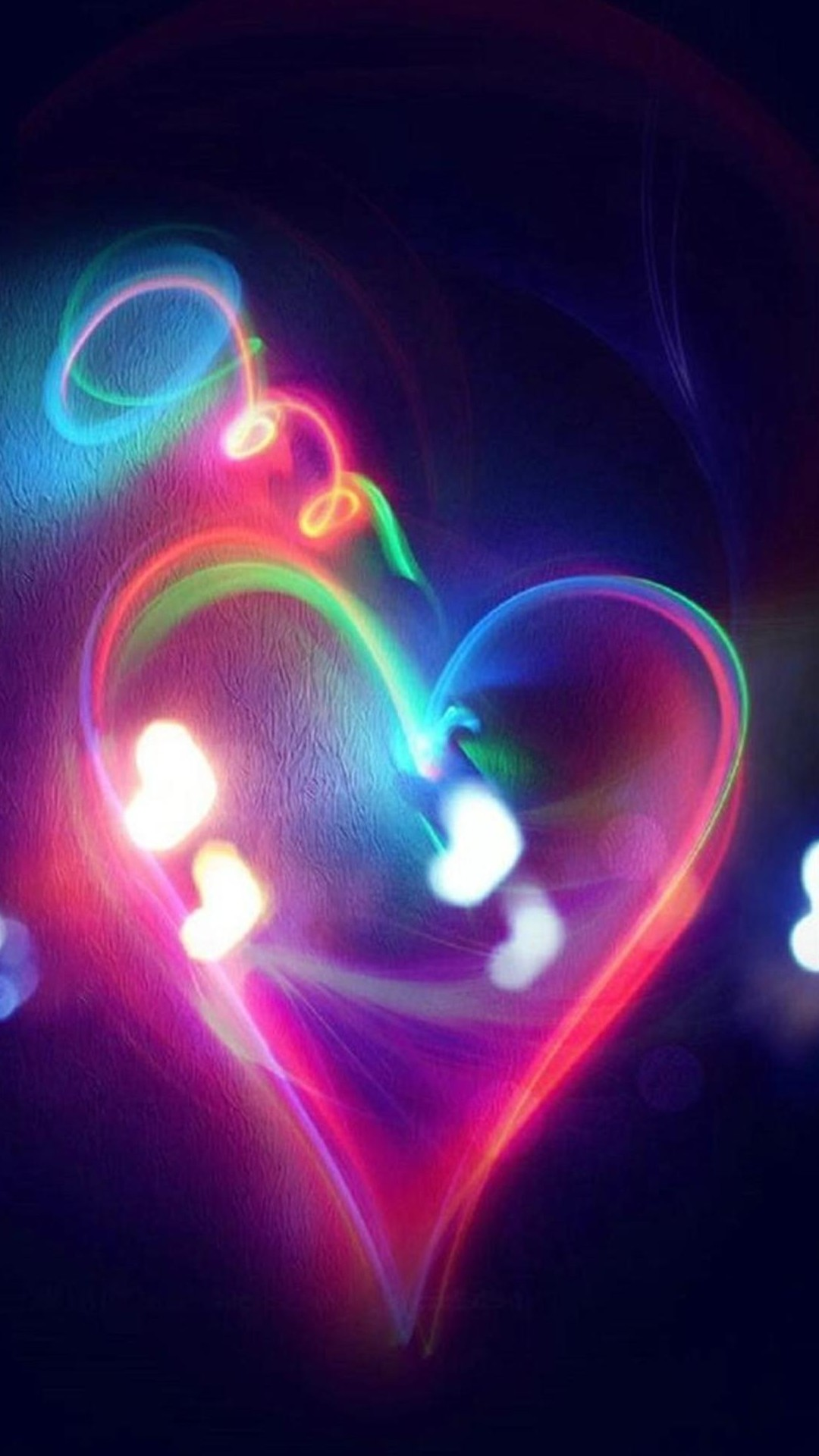 Love Lights Smartphone Wallpapers Hd Glowing Heart 11824 Hd