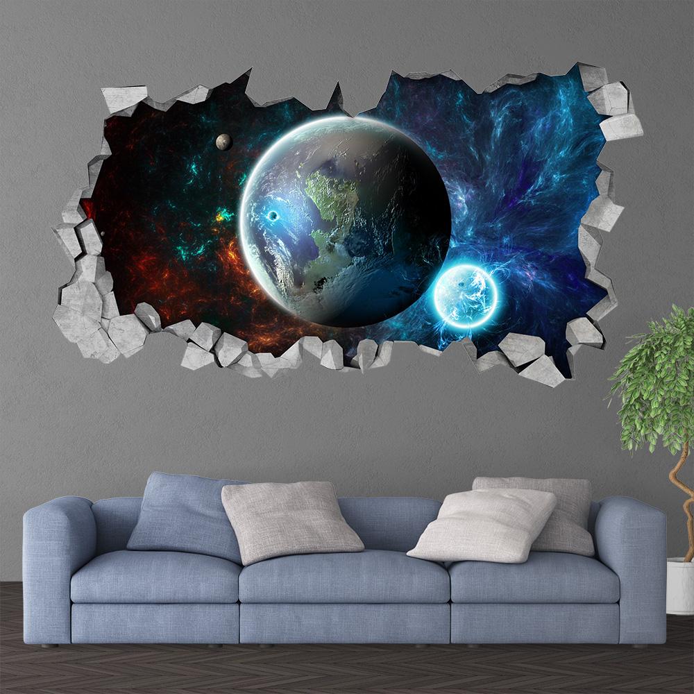 Broken Wall Decal Natural Satellite Wallpaper Hd 12197