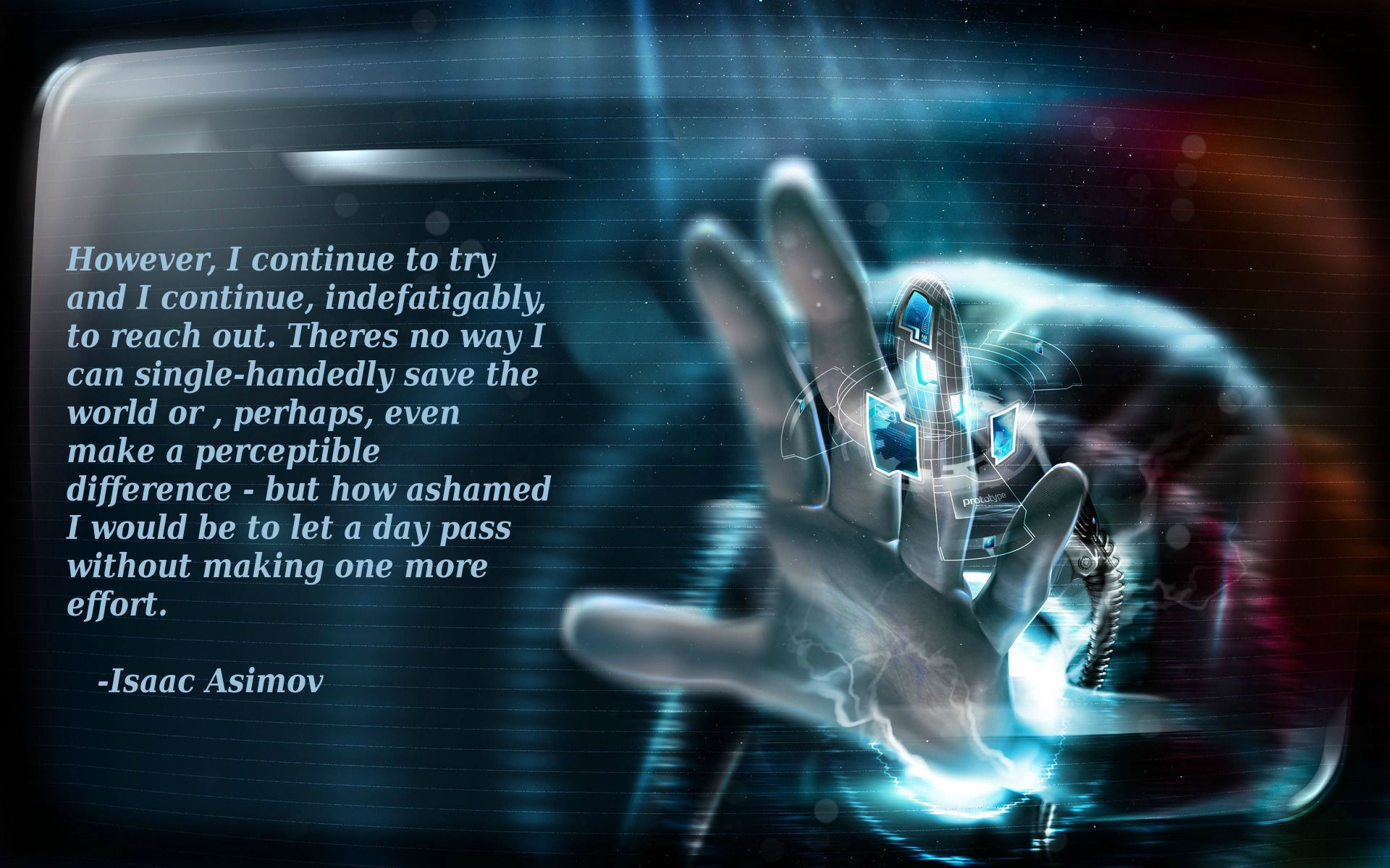 Isaac Asimov Inspirational Wallpaper Hi Tech Wallpaper 4k