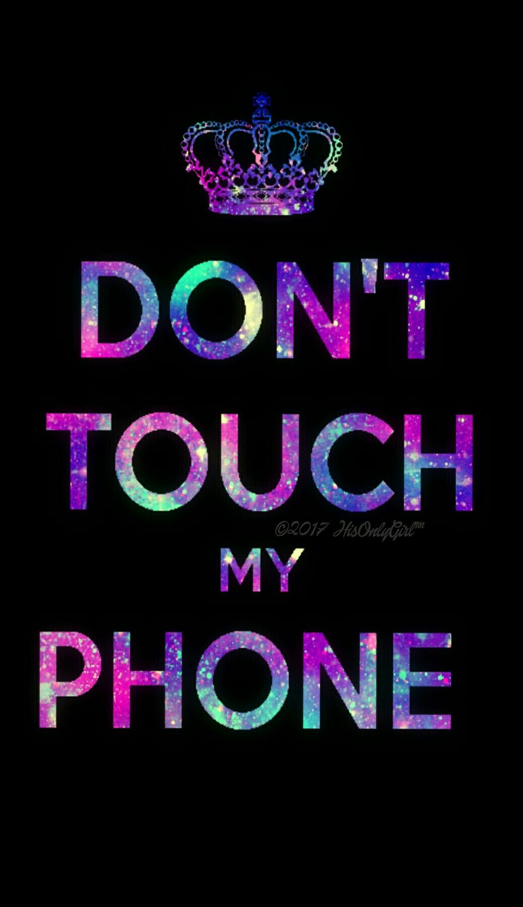 Don't Touch Galaxy Wallpaper I Created For The App - Dont Touch My Phone , HD Wallpaper & Backgrounds