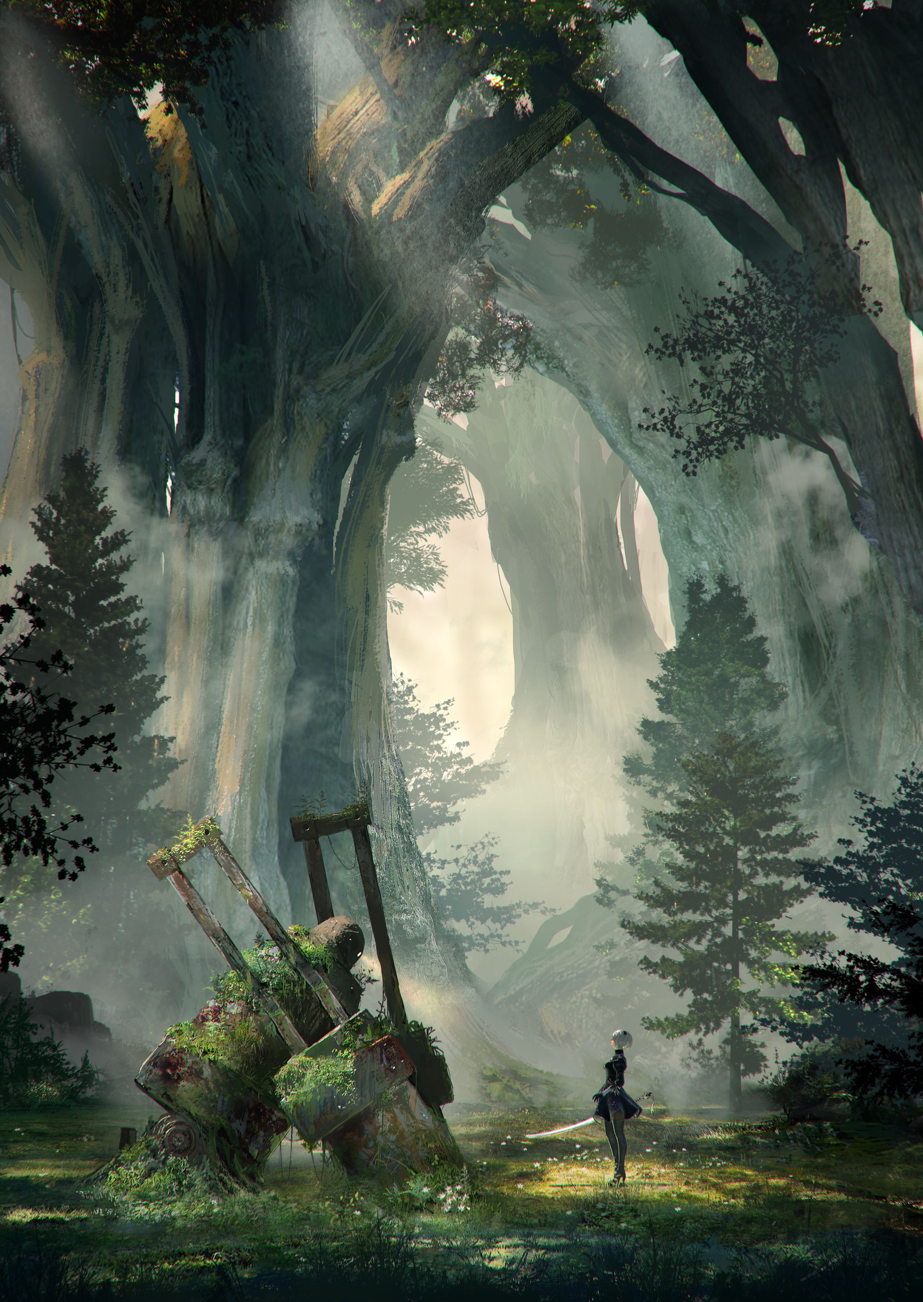 Automata Forest King Wallpaper [3547×5000] , HD Wallpaper & Backgrounds