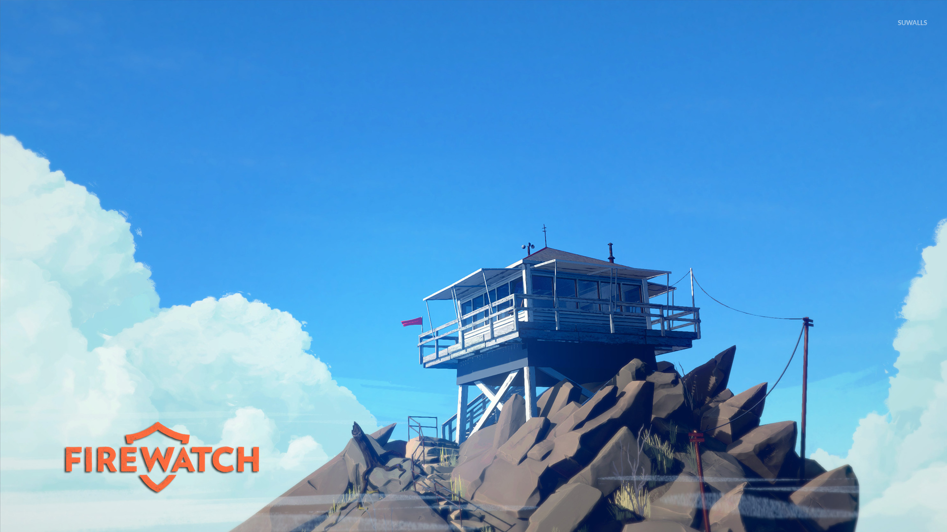 Fire Lookout Tower On The Cliff - Fire Watch , HD Wallpaper & Backgrounds