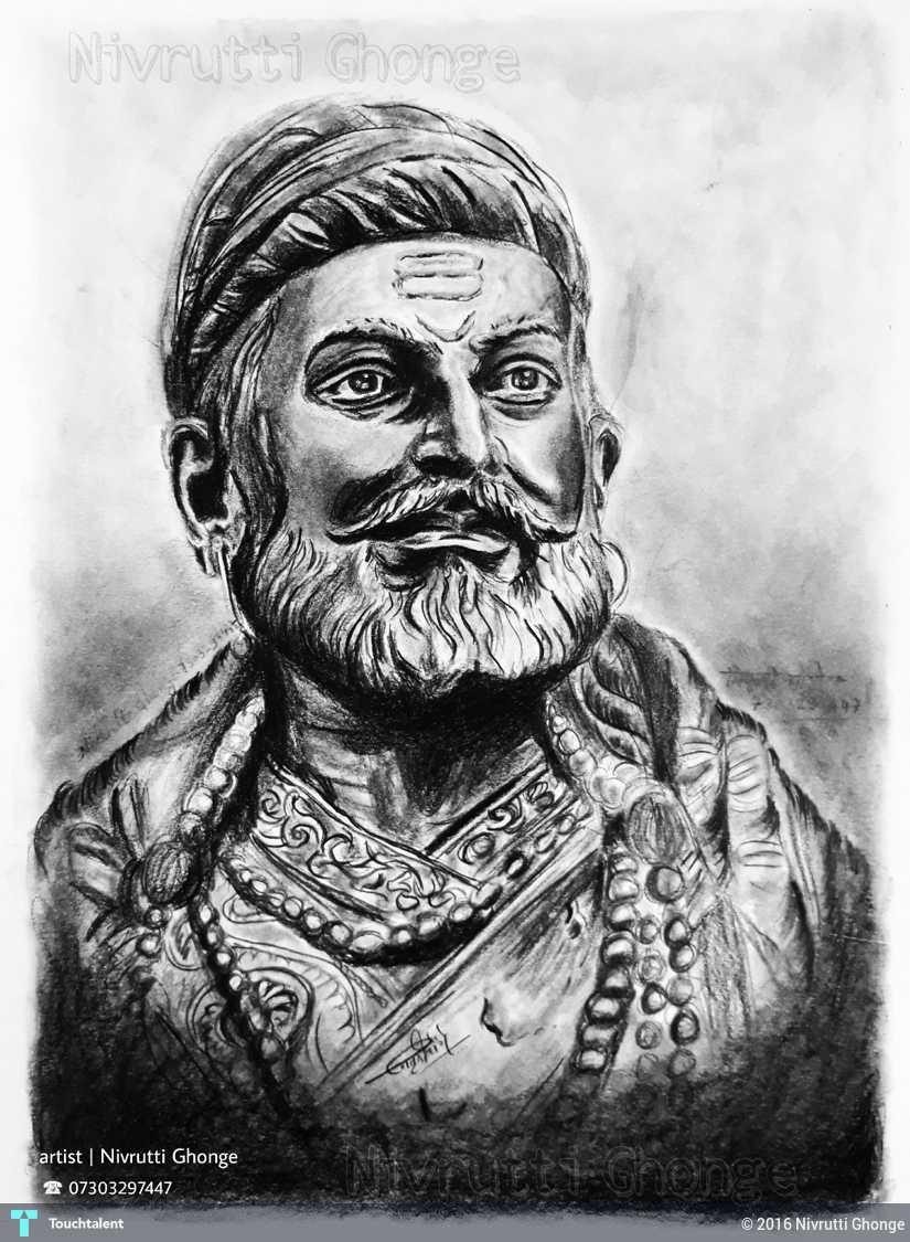 Shivaji Maharaj Hd Wallpaper - Shivaji Maharaj 3d Sketch , HD Wallpaper & Backgrounds