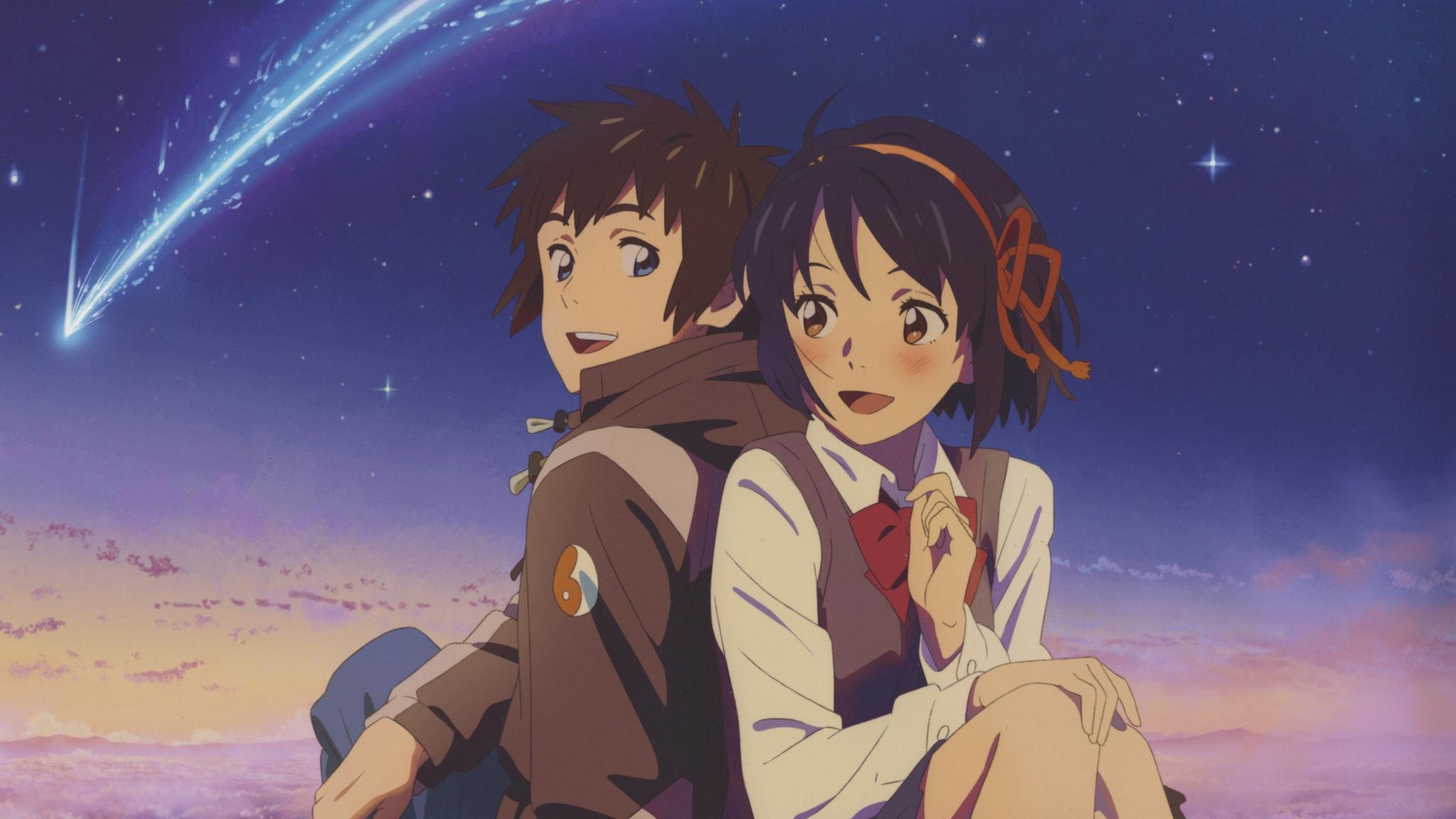 Cute Couple, Mitsuha Miyamizu, Taki Tachibana, Kimi - Your Name Mitsuha And Taki , HD Wallpaper & Backgrounds