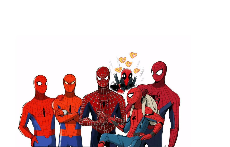 Photo Wallpaper Deadpool Spider Man The Amazing Spider