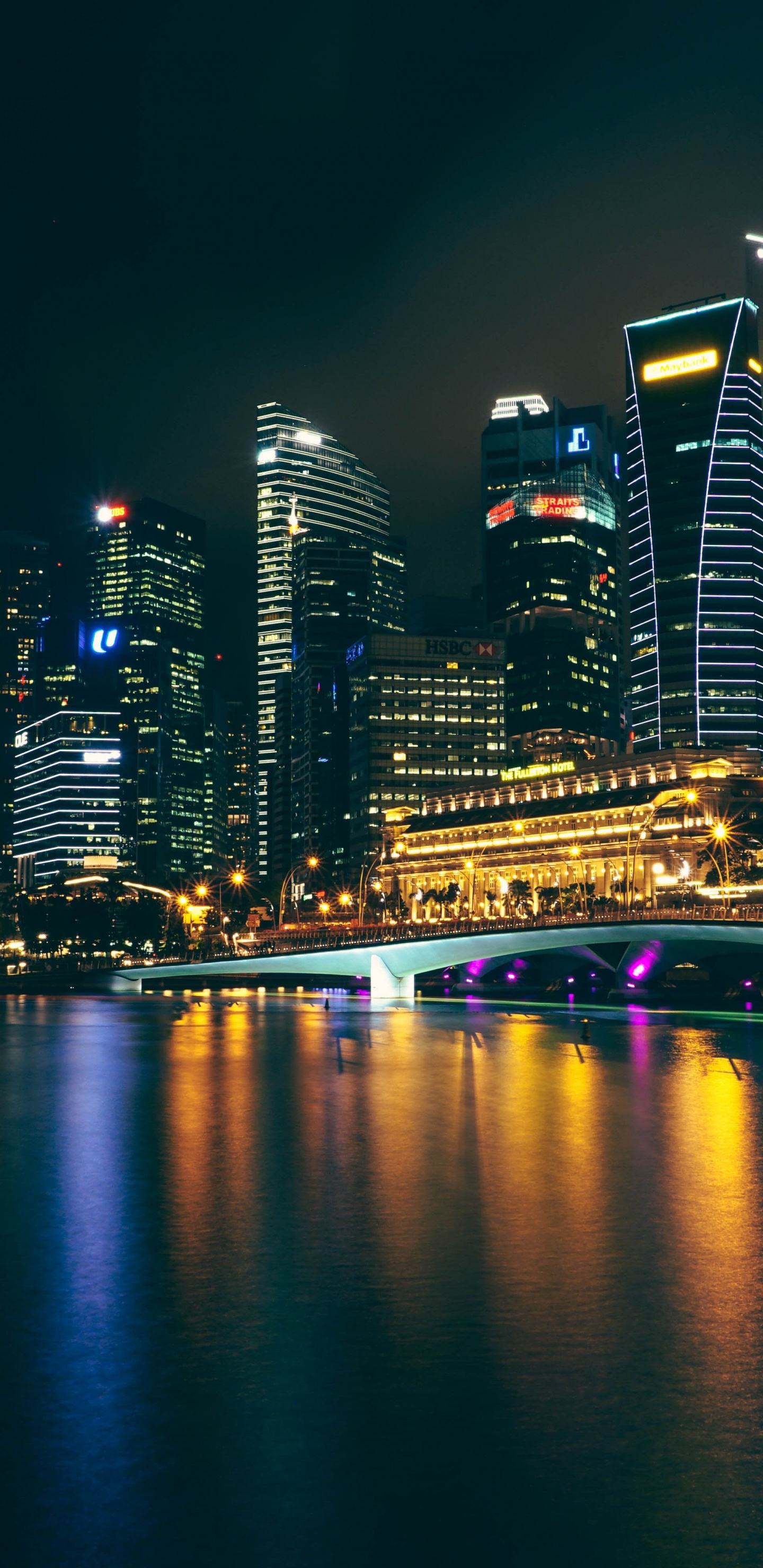 City Night Buildings Reflections Wallpaper City Night 15971 Hd Wallpaper Backgrounds Download
