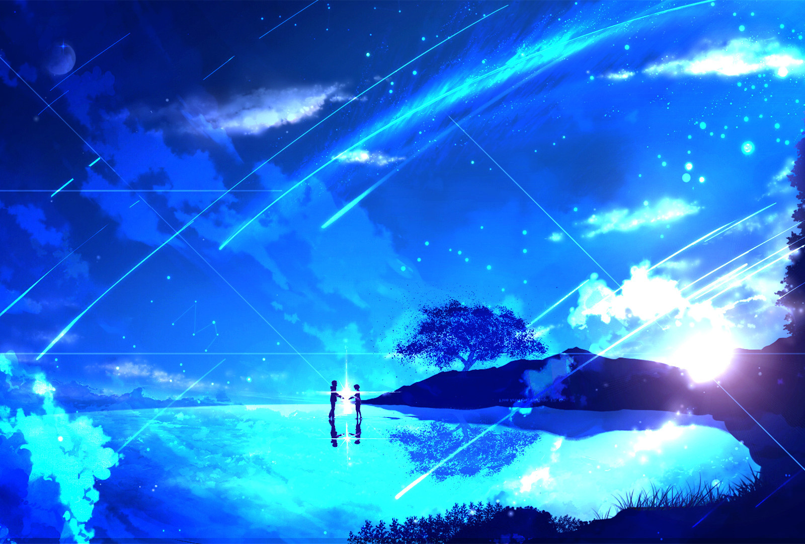 Wallpaper Couple Anime Girl Night Kimi No Na Wa Kimi No