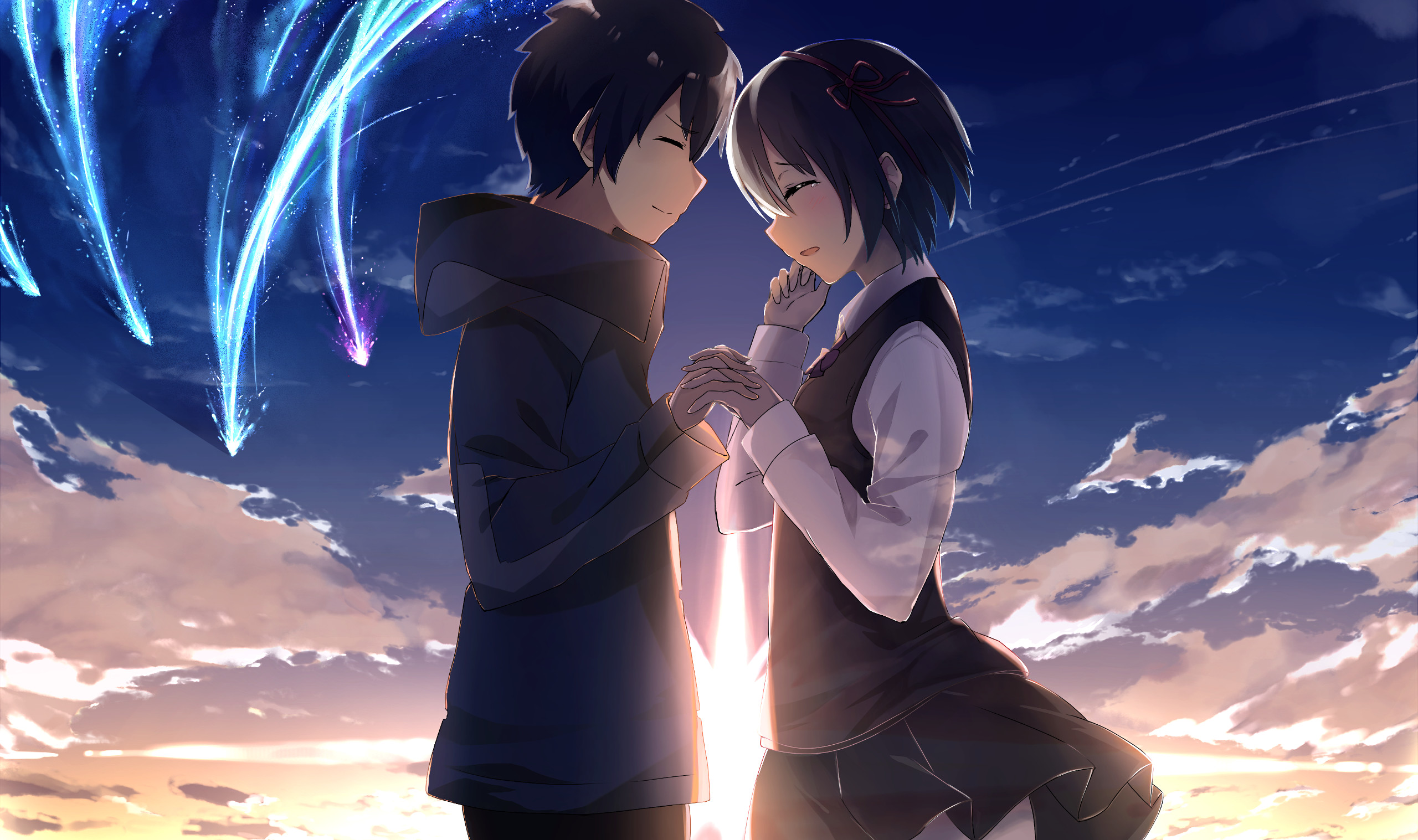 Baixar - Taki Mitsuha Kimi No Na Wa , HD Wallpaper & Backgrounds