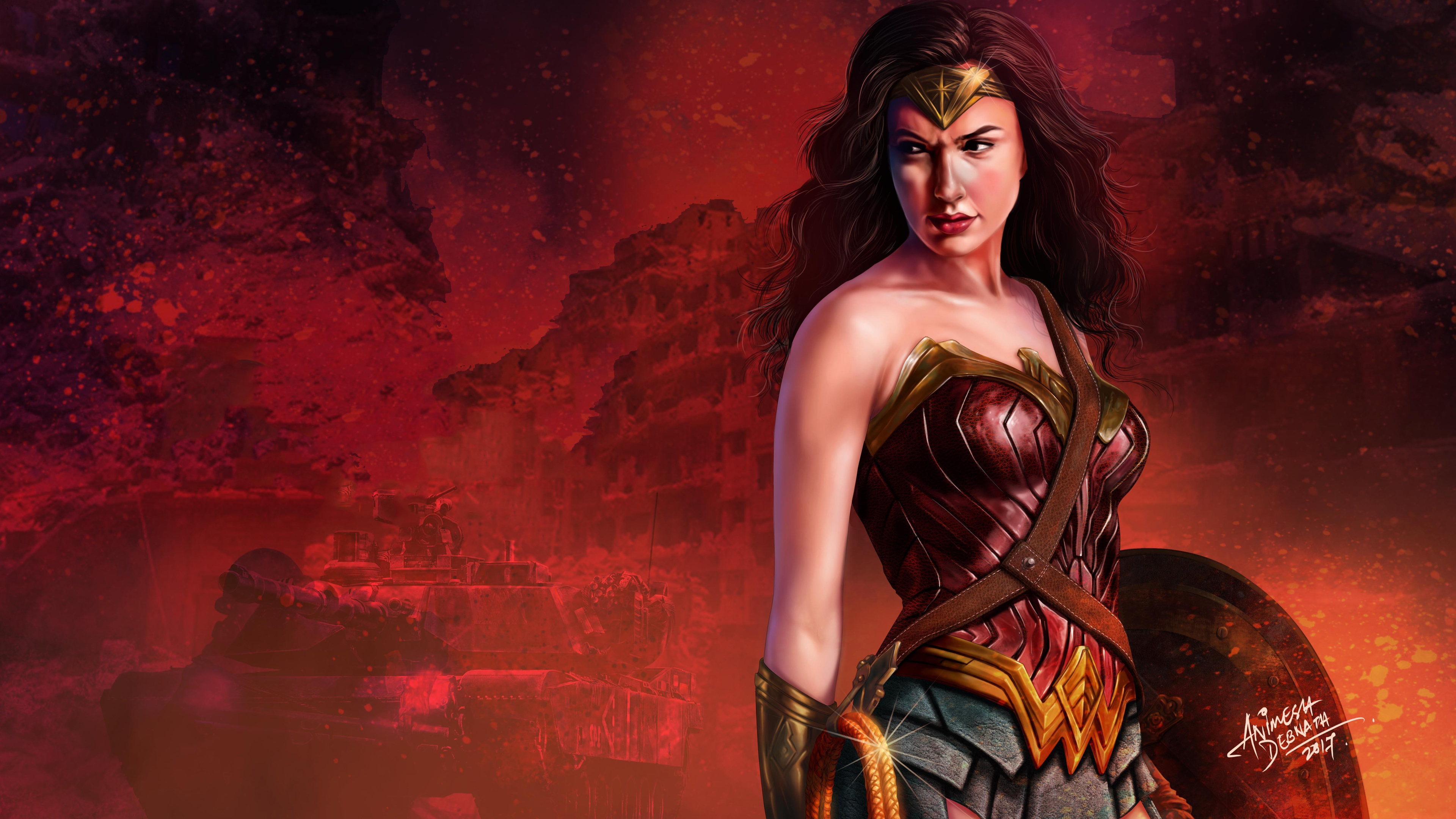 Wonder Woman 5k Gal Gadot Art Wallpaper Wonder Woman Background