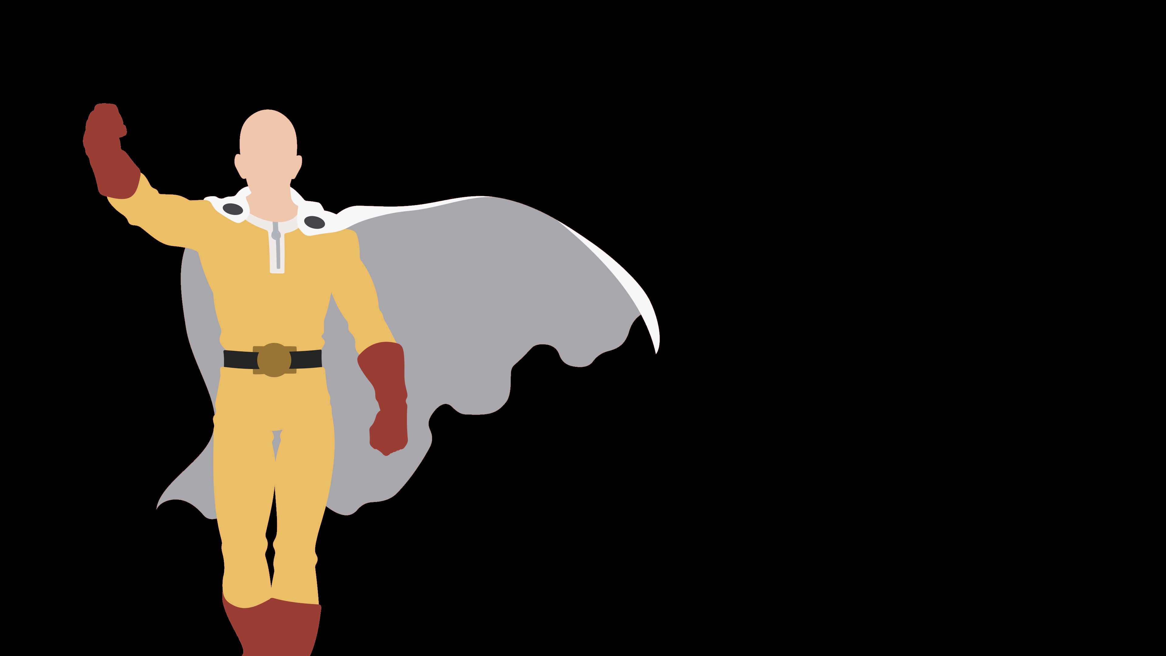 Minimalism Anime Saitama One Punch Man Wallpaper One
