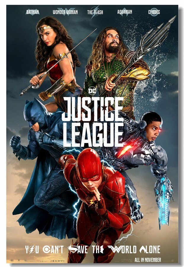 Custom Wall Mural Superheroes Dc The Flash Poster Justice - Chinese Justice League Poster , HD Wallpaper & Backgrounds