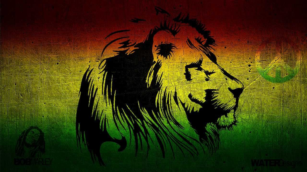 Waterdesigne ¦ Photoshop Speedart Rasta Wallpaper - Reggae Lion , HD Wallpaper & Backgrounds