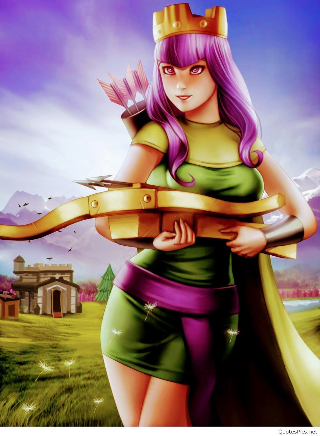 Coc Wallpaper Hd For Android Clash A Rama Archer Queen 101039