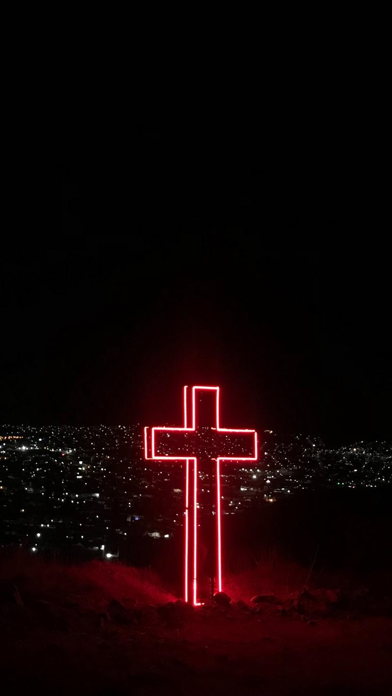 Wallpaper Cross, Night City, City Lights, View, Overview - Neon Cross , HD Wallpaper & Backgrounds