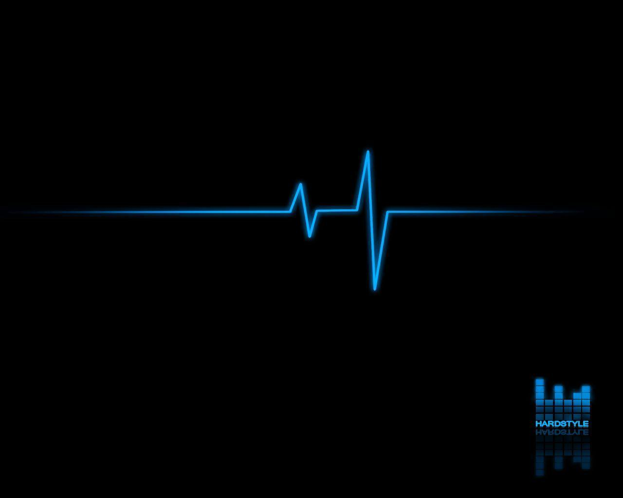 Dj Music Android Hd Wallpaper Black With Blue Pulse 102235