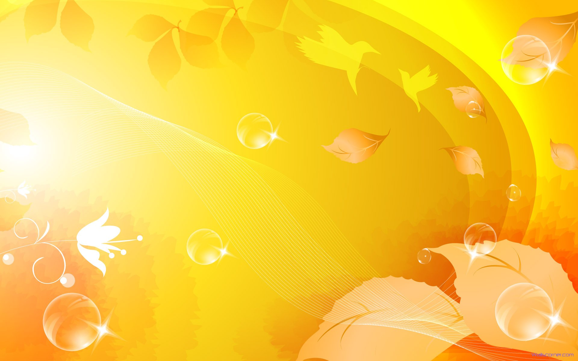 Leave Yellow Abstract Wallpaper Background In High