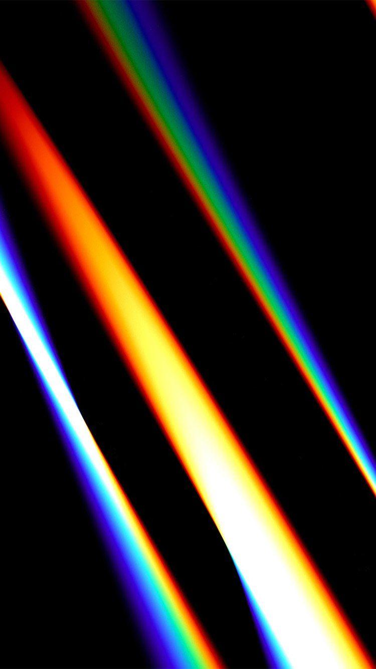 Lense Rainbow Dark Color Pattern Background Wallpaper Dark