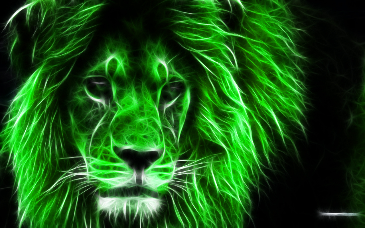 Green Lion Wallpaper - Green Lion Wallpaper Hd , HD Wallpaper & Backgrounds